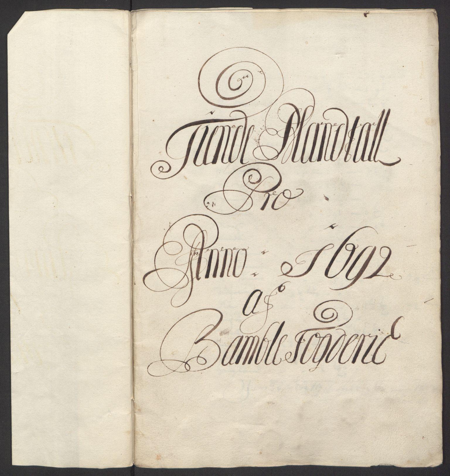 RA, Rentekammeret inntil 1814, Reviderte regnskaper, Fogderegnskap, R34/L2052: Fogderegnskap Bamble, 1692-1693, s. 46