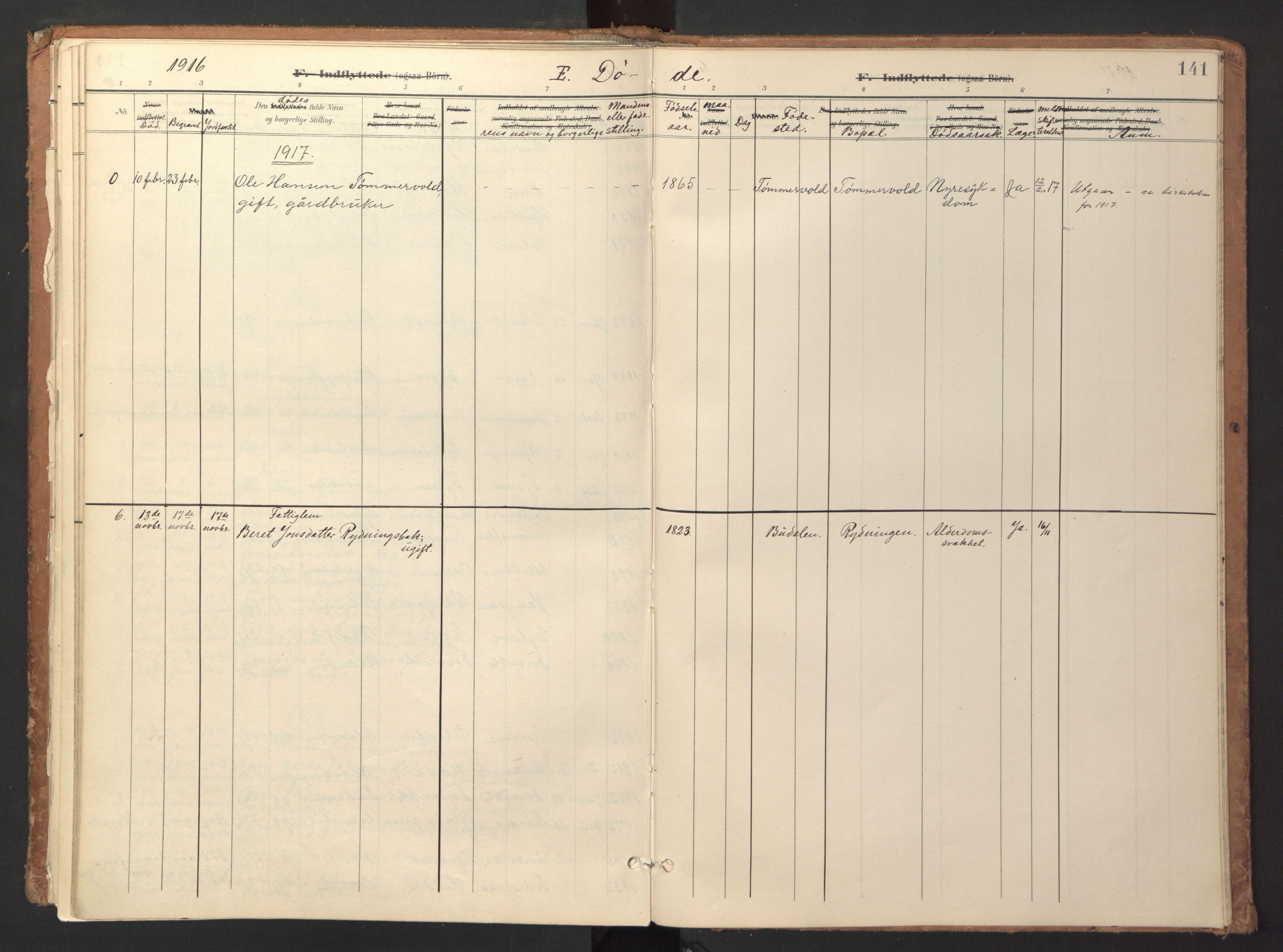 SAT, Ministerialprotokoller, klokkerbøker og fødselsregistre - Sør-Trøndelag, 618/L0448: Ministerialbok nr. 618A11, 1898-1916, s. 141