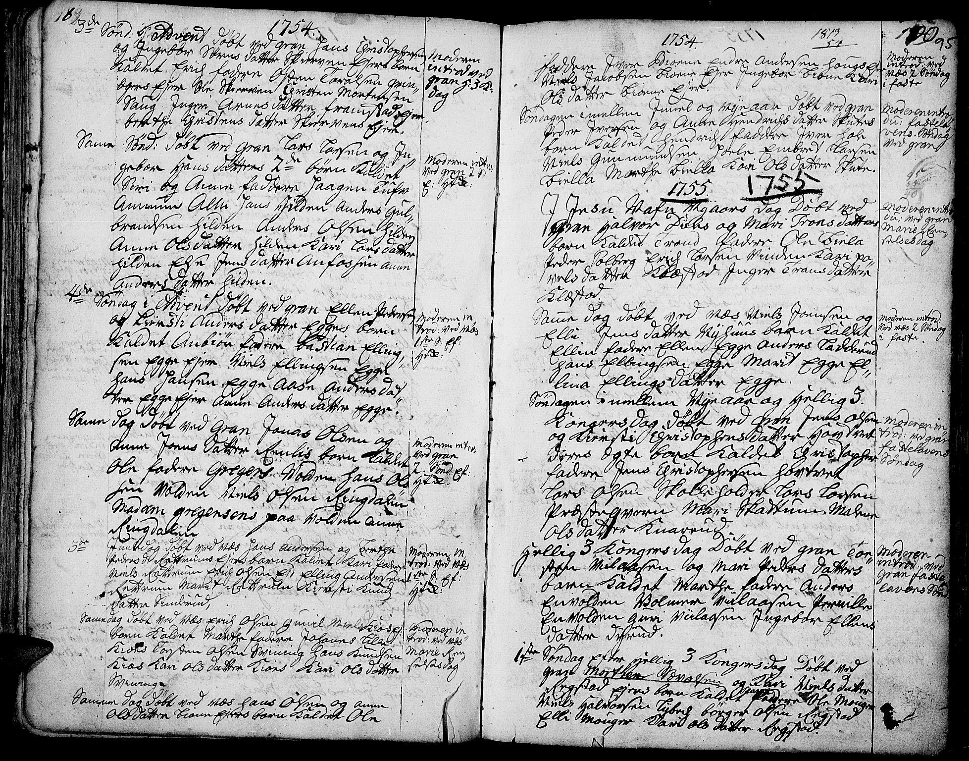 SAH, Gran prestekontor, Ministerialbok nr. 3, 1745-1758, s. 95