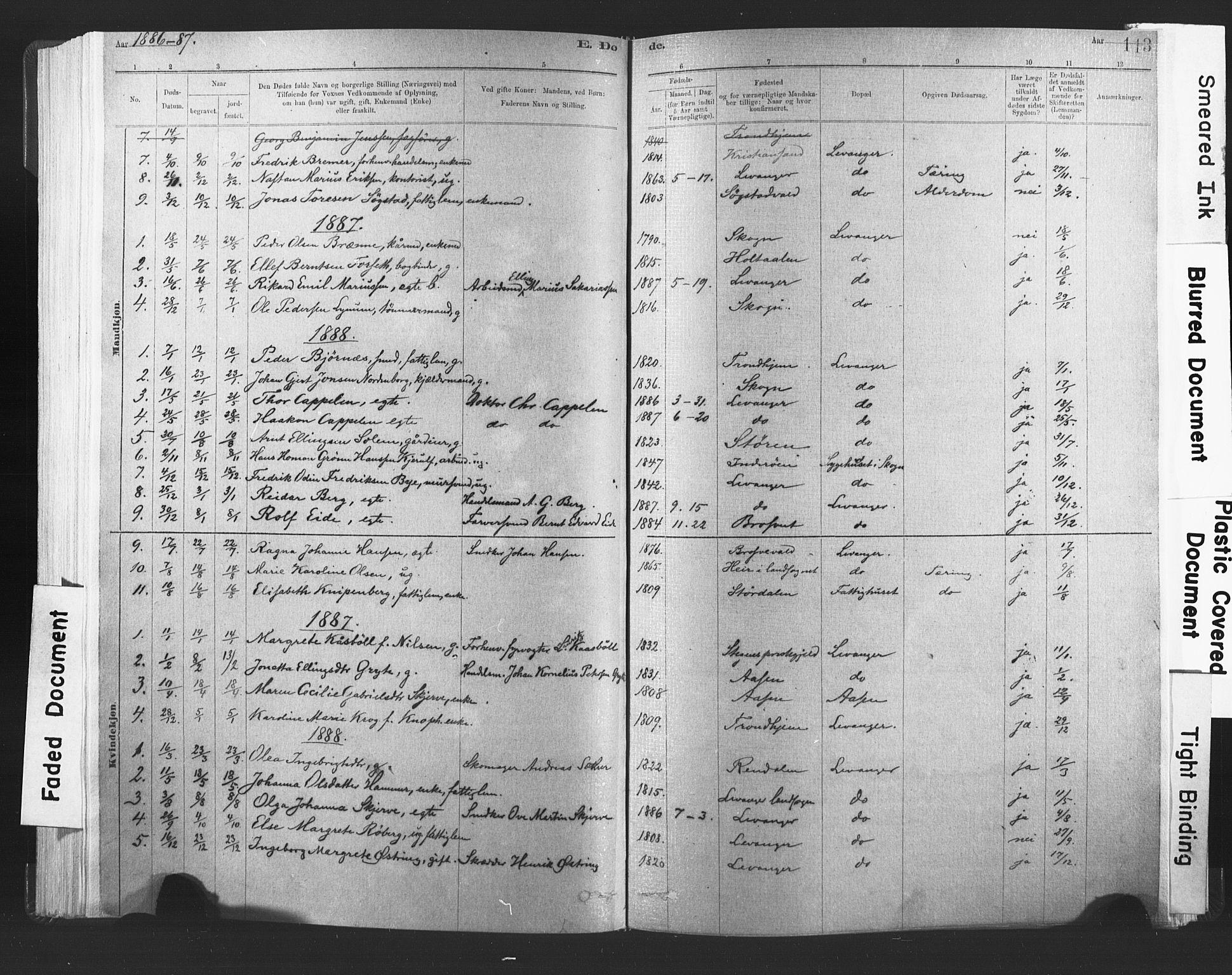 SAT, Ministerialprotokoller, klokkerbøker og fødselsregistre - Nord-Trøndelag, 720/L0189: Ministerialbok nr. 720A05, 1880-1911, s. 113