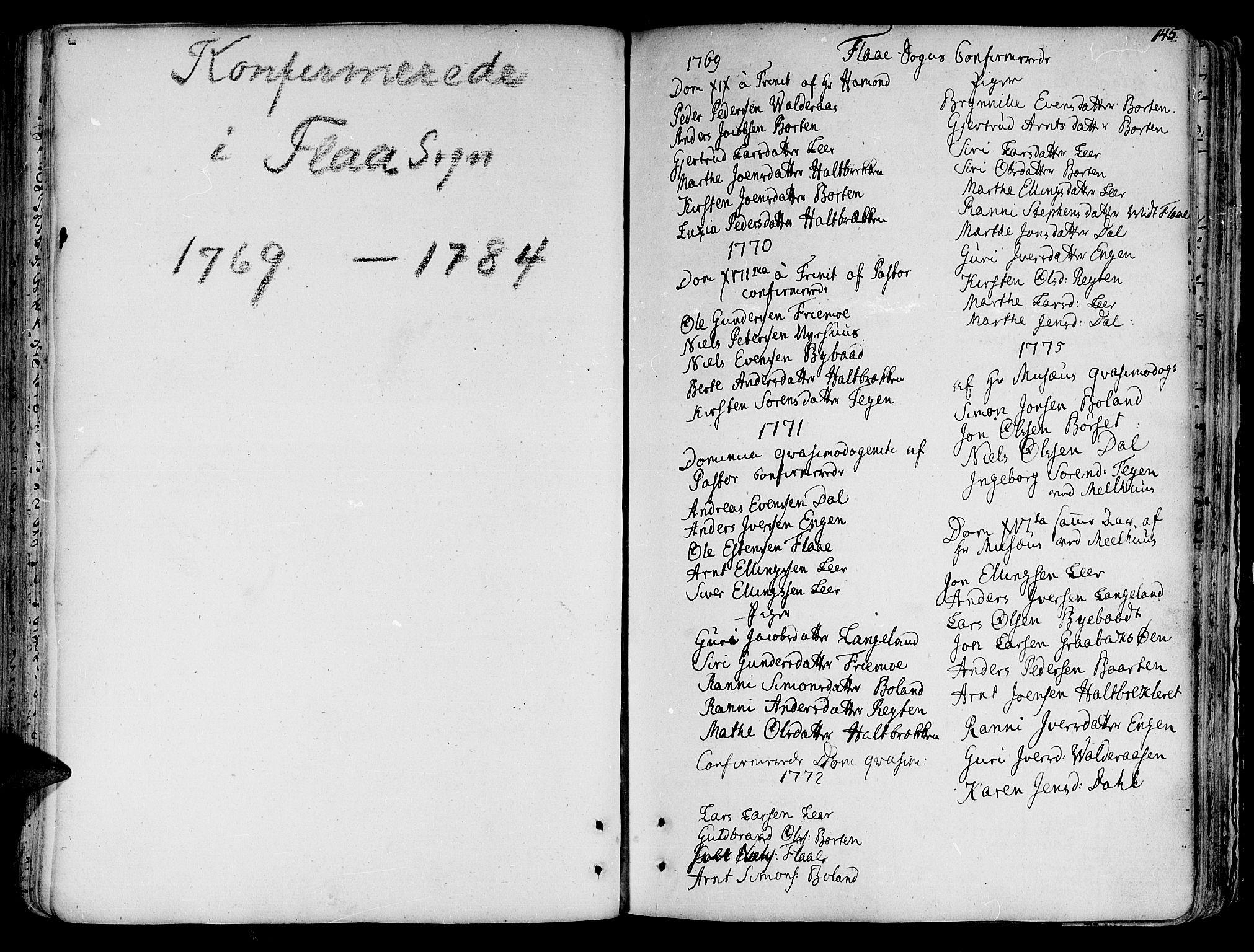 SAT, Ministerialprotokoller, klokkerbøker og fødselsregistre - Sør-Trøndelag, 691/L1062: Ministerialbok nr. 691A02 /2, 1768-1815, s. 145