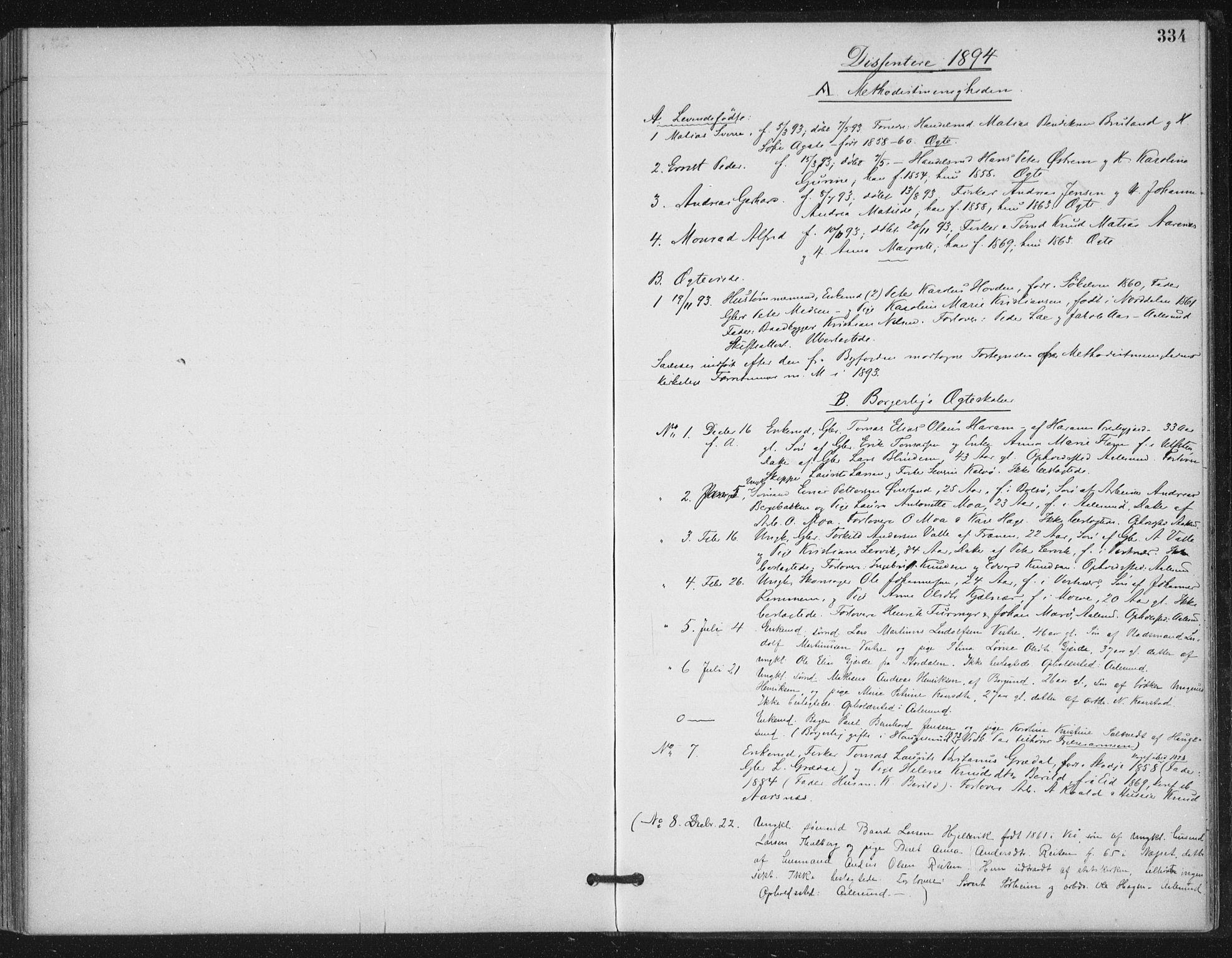 SAT, Ministerialprotokoller, klokkerbøker og fødselsregistre - Møre og Romsdal, 529/L0457: Ministerialbok nr. 529A07, 1894-1903, s. 334