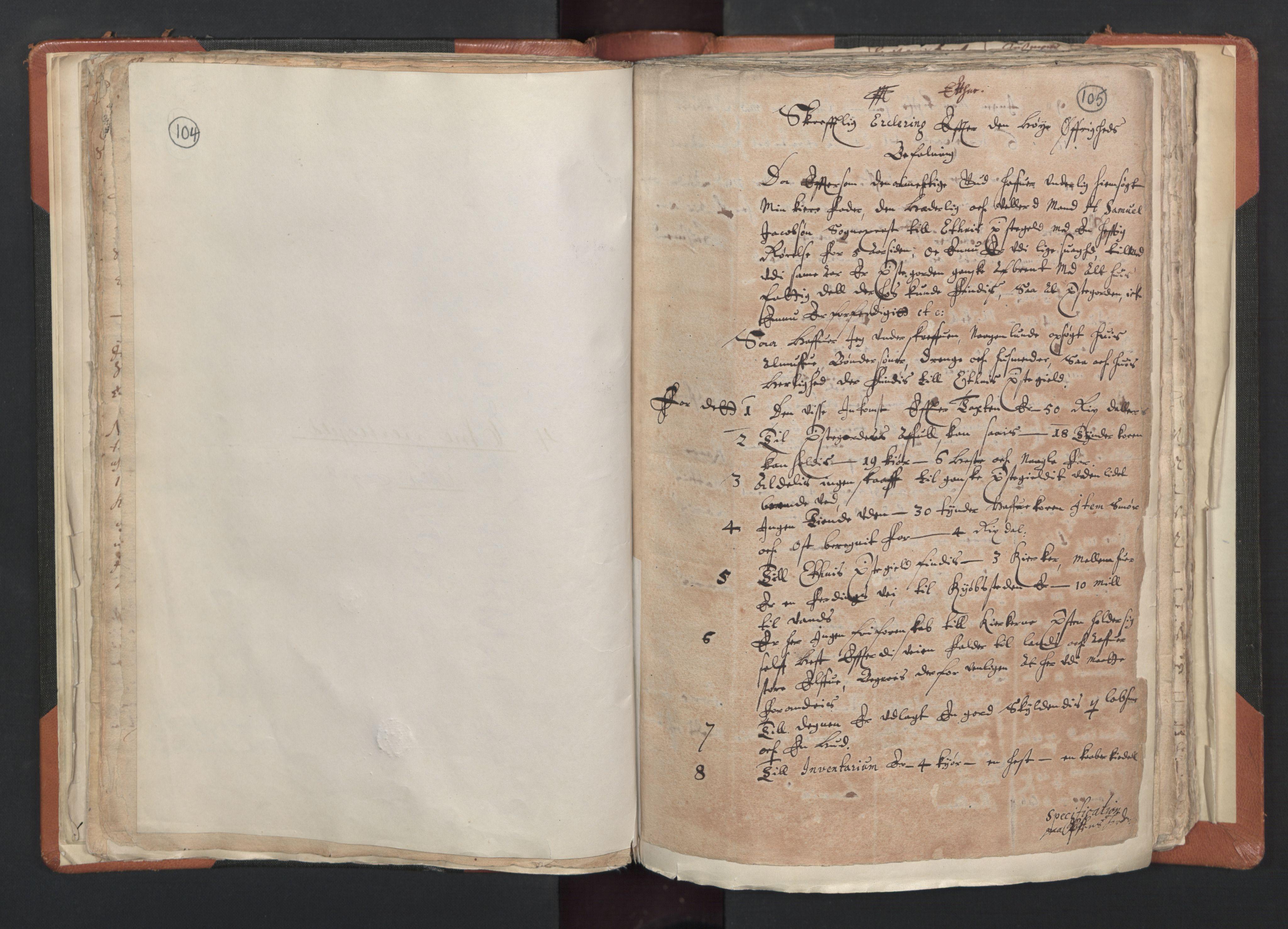 RA, Sogneprestenes manntall 1664-1666, nr. 20: Sunnhordland prosti, 1664-1666, s. 104-105