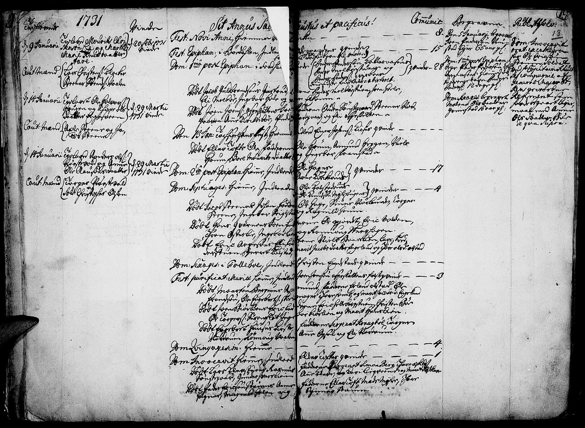 SAH, Gausdal prestekontor, Ministerialbok nr. 2, 1729-1757, s. 13