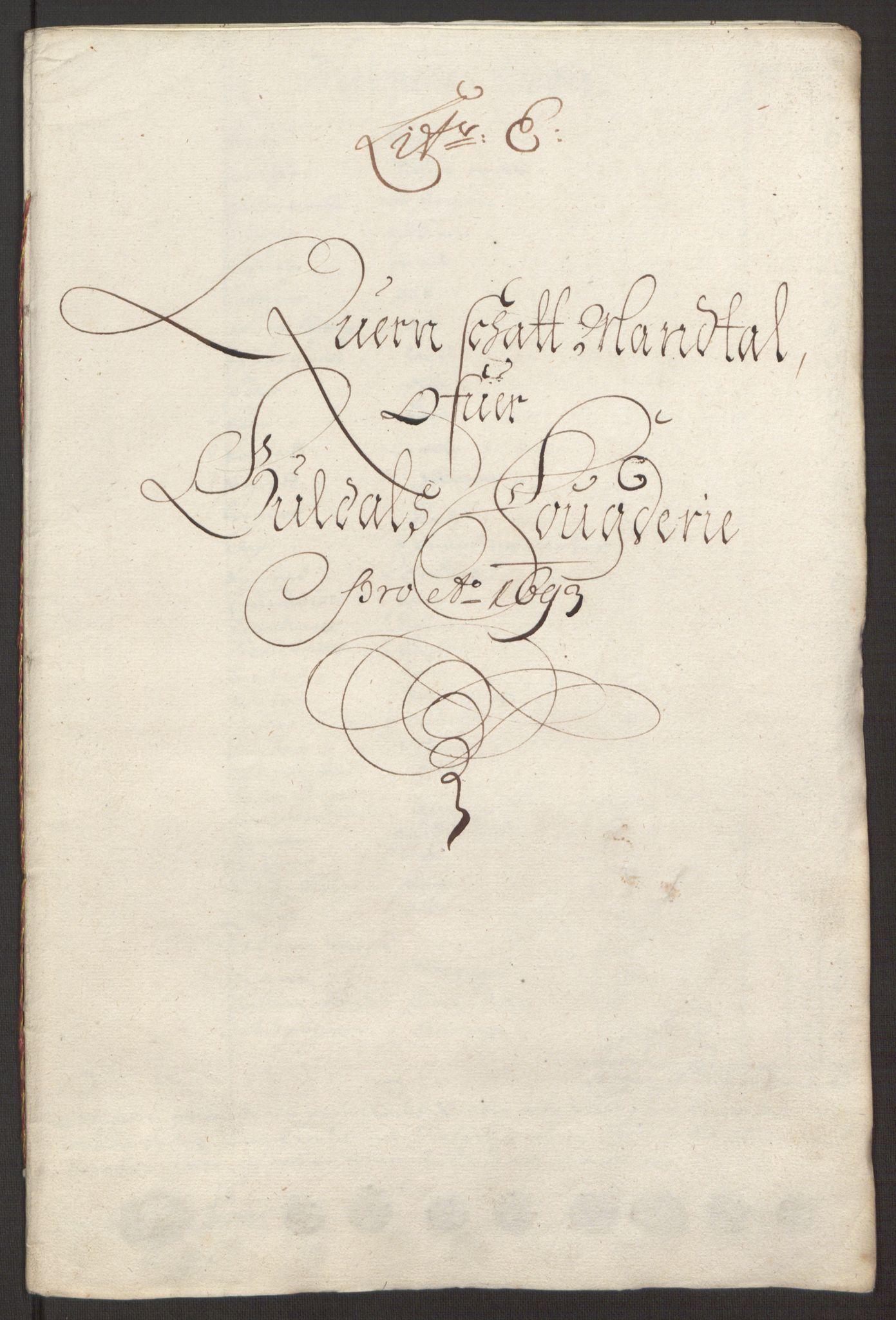 RA, Rentekammeret inntil 1814, Reviderte regnskaper, Fogderegnskap, R59/L3943: Fogderegnskap Gauldal, 1693, s. 87