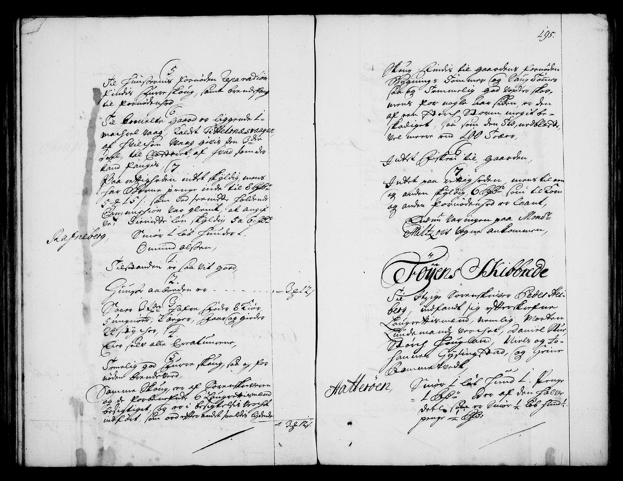 RA, Rentekammeret inntil 1814, Realistisk ordnet avdeling, On/L0003: [Jj 4]: Kommisjonsforretning over Vilhelm Hanssøns forpaktning av Halsnøy klosters gods, 1712-1722, s. 194b-195a