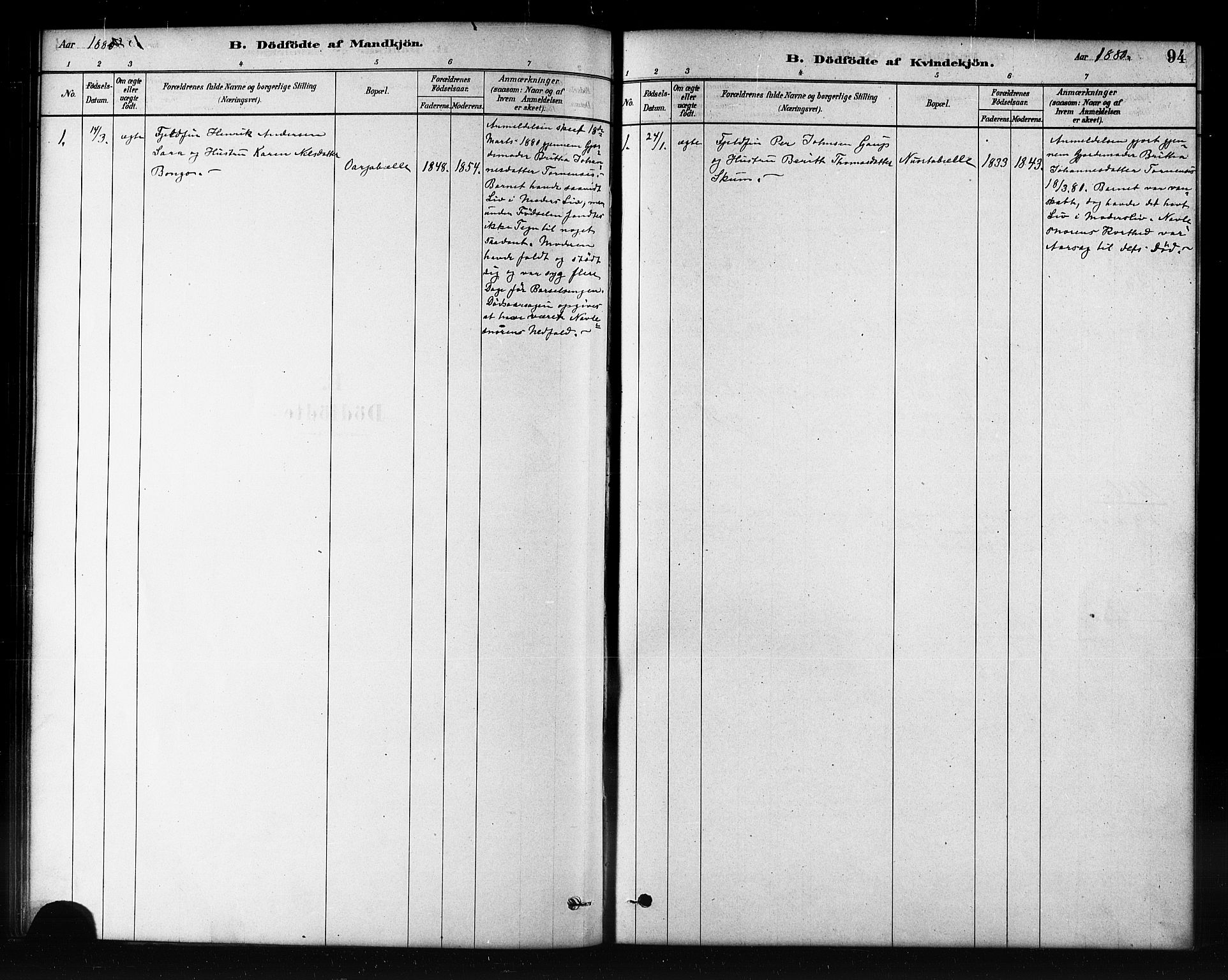 SATØ, Kautokeino sokneprestembete, H/Hb/L0002.klokk: Klokkerbok nr. 2, 1877-1896, s. 94