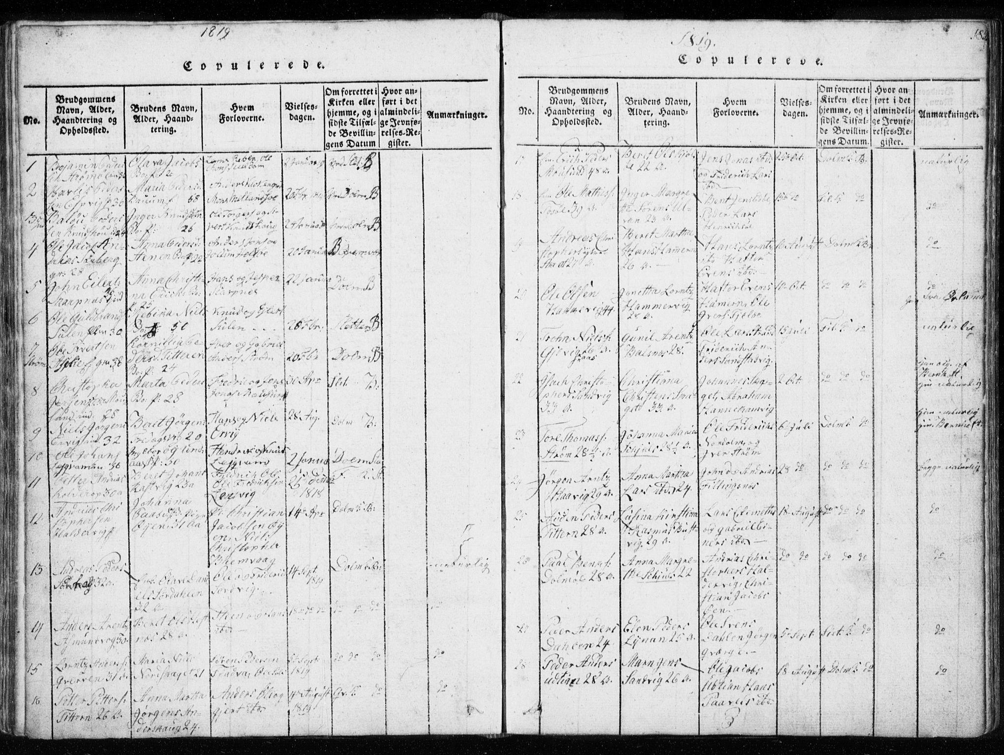 SAT, Ministerialprotokoller, klokkerbøker og fødselsregistre - Sør-Trøndelag, 634/L0527: Ministerialbok nr. 634A03, 1818-1826, s. 185