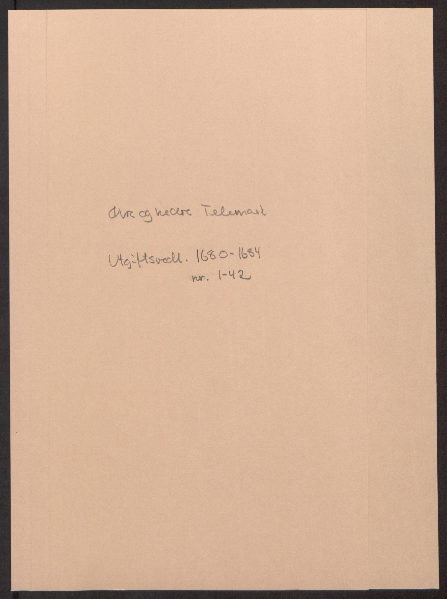 RA, Rentekammeret inntil 1814, Reviderte regnskaper, Fogderegnskap, R35/L2081: Fogderegnskap Øvre og Nedre Telemark, 1680-1684, s. 343