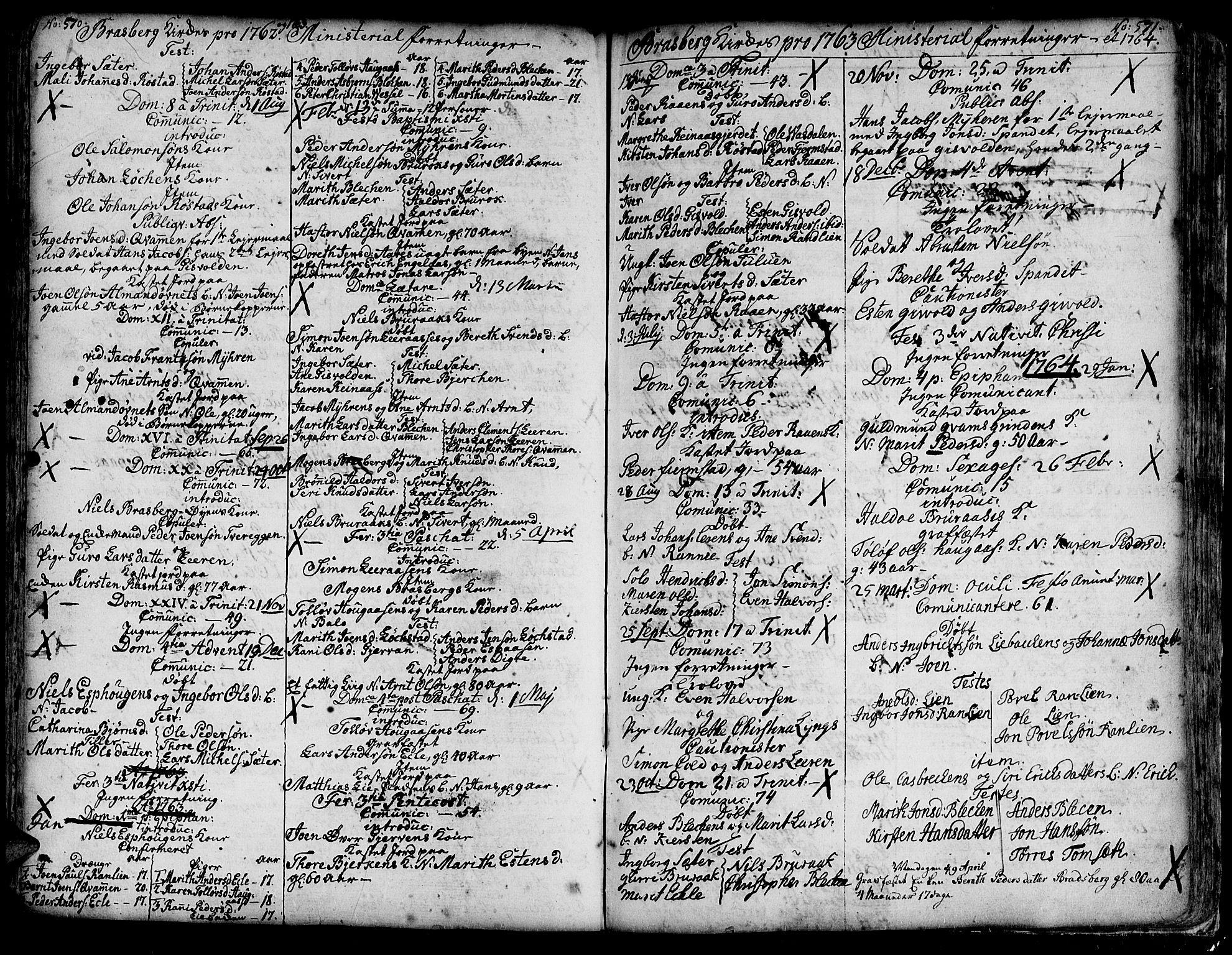 SAT, Ministerialprotokoller, klokkerbøker og fødselsregistre - Sør-Trøndelag, 606/L0278: Ministerialbok nr. 606A01 /4, 1727-1780, s. 570-571