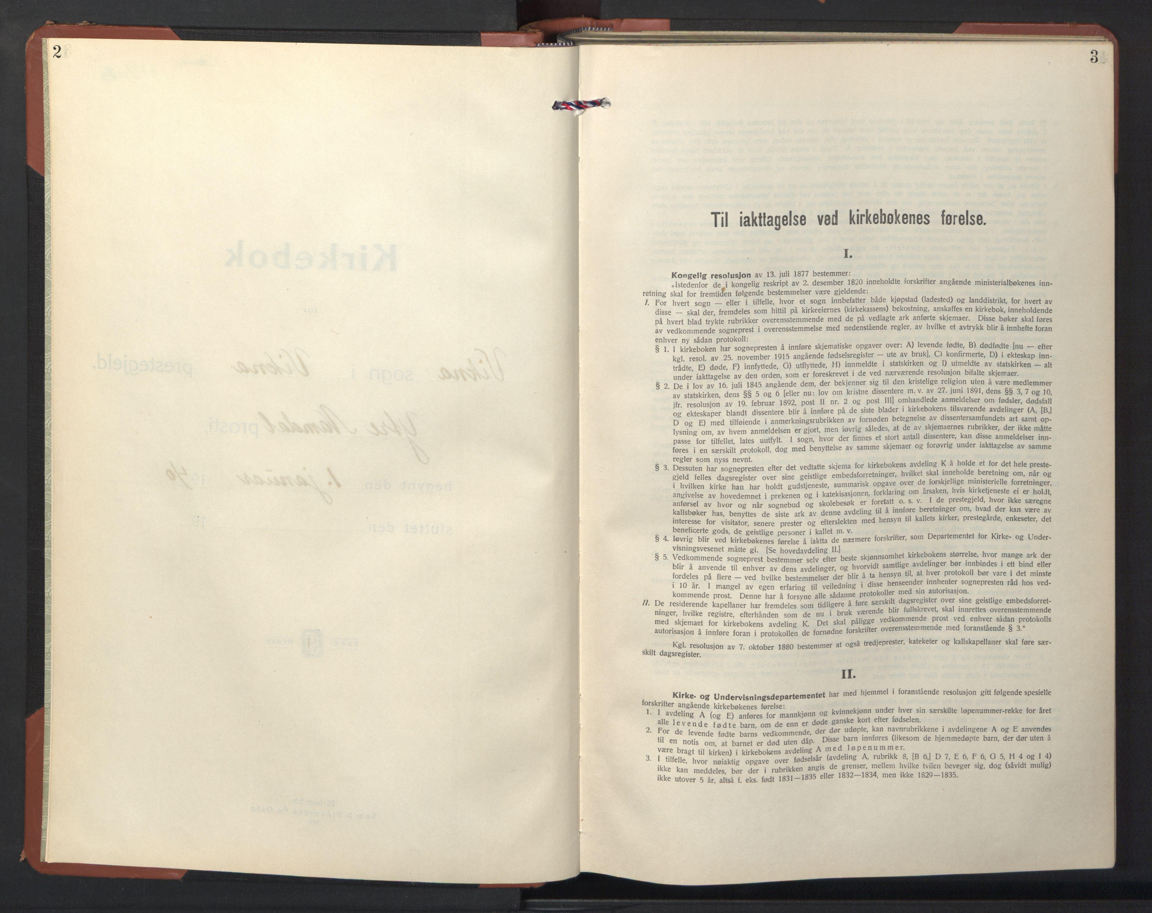 SAT, Ministerialprotokoller, klokkerbøker og fødselsregistre - Nord-Trøndelag, 786/L0689: Klokkerbok nr. 786C01, 1940-1948, s. 2-3