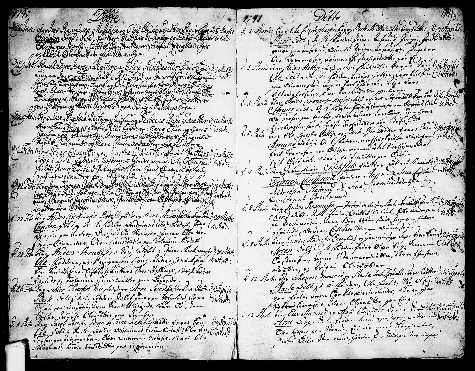 SAO, Rakkestad prestekontor Kirkebøker, F/Fa/L0002: Ministerialbok nr. I 2, 1741-1751, s. 3