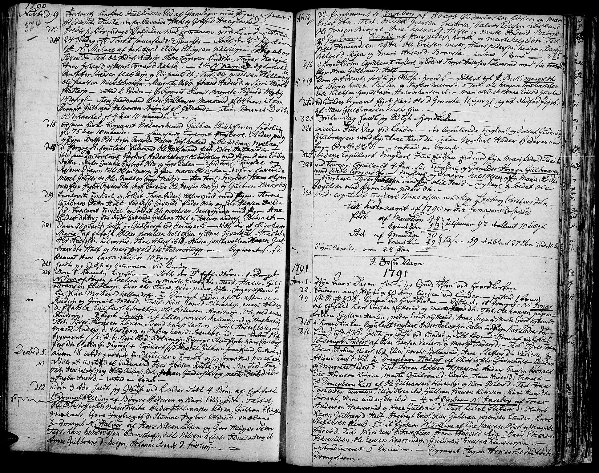 SAH, Jevnaker prestekontor, Ministerialbok nr. 3, 1752-1799, s. 374-375