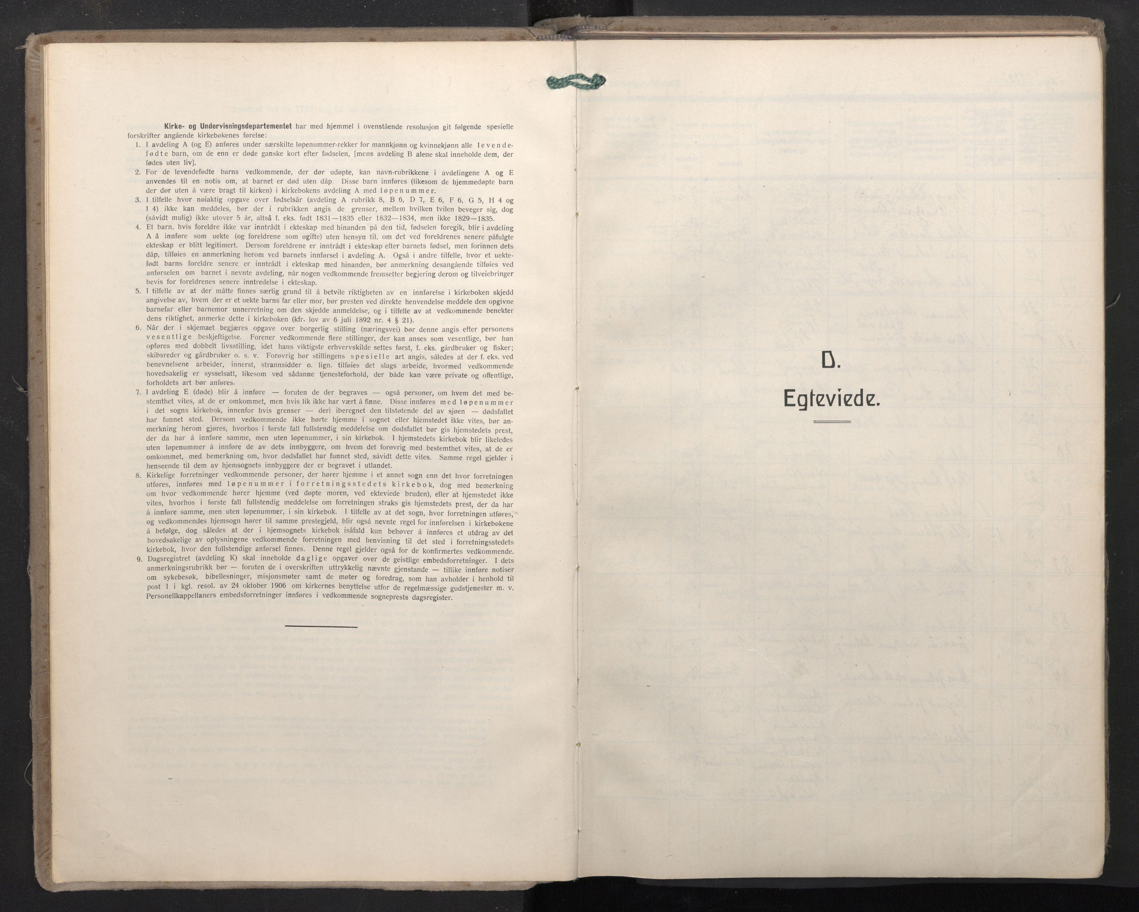 SAB, Domkirken Sokneprestembete, H/Haa: Ministerialbok nr. D 7, 1937-1950