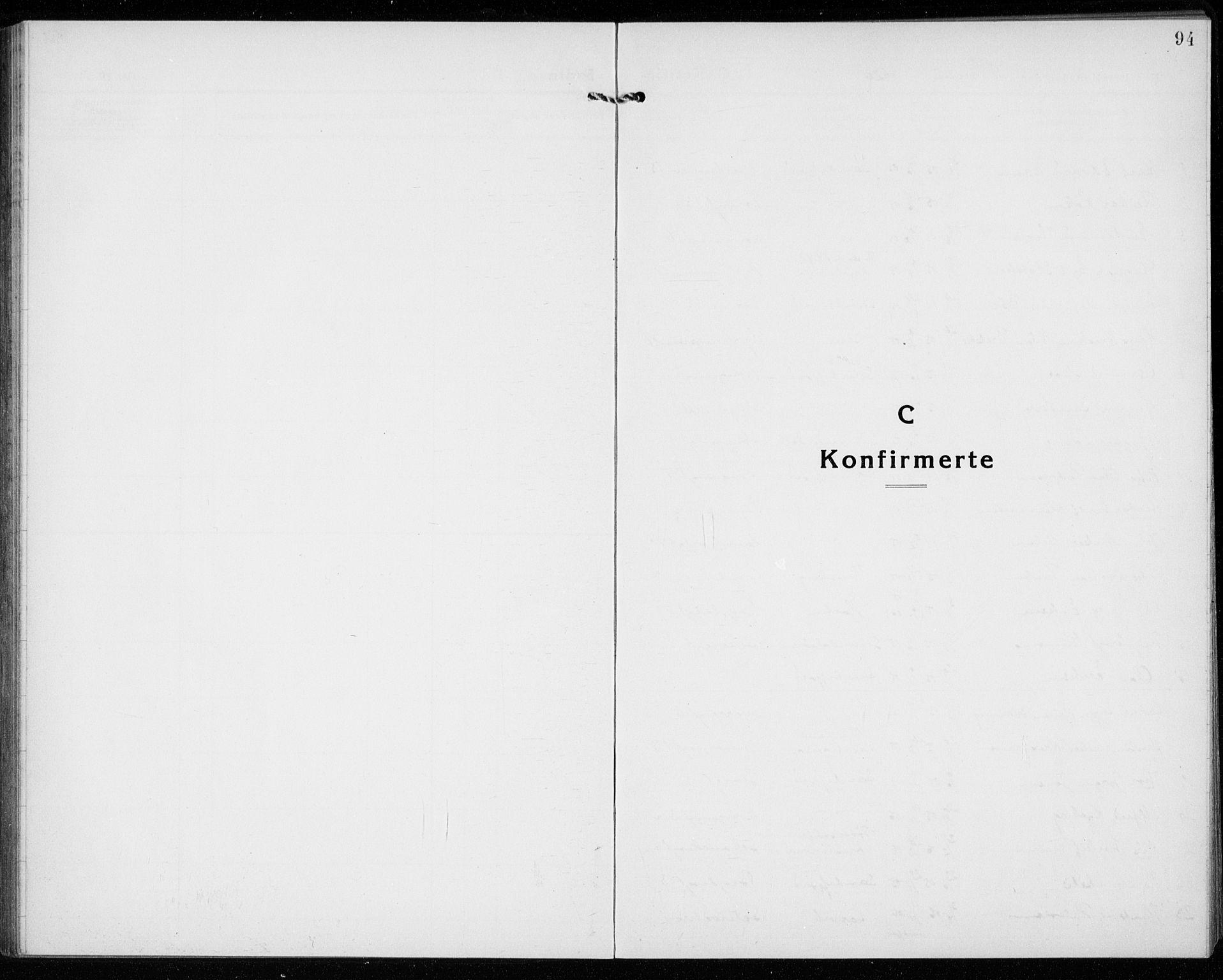 SAKO, Sandefjord kirkebøker, G/Ga/L0004: Klokkerbok nr. 4, 1920-1931, s. 94