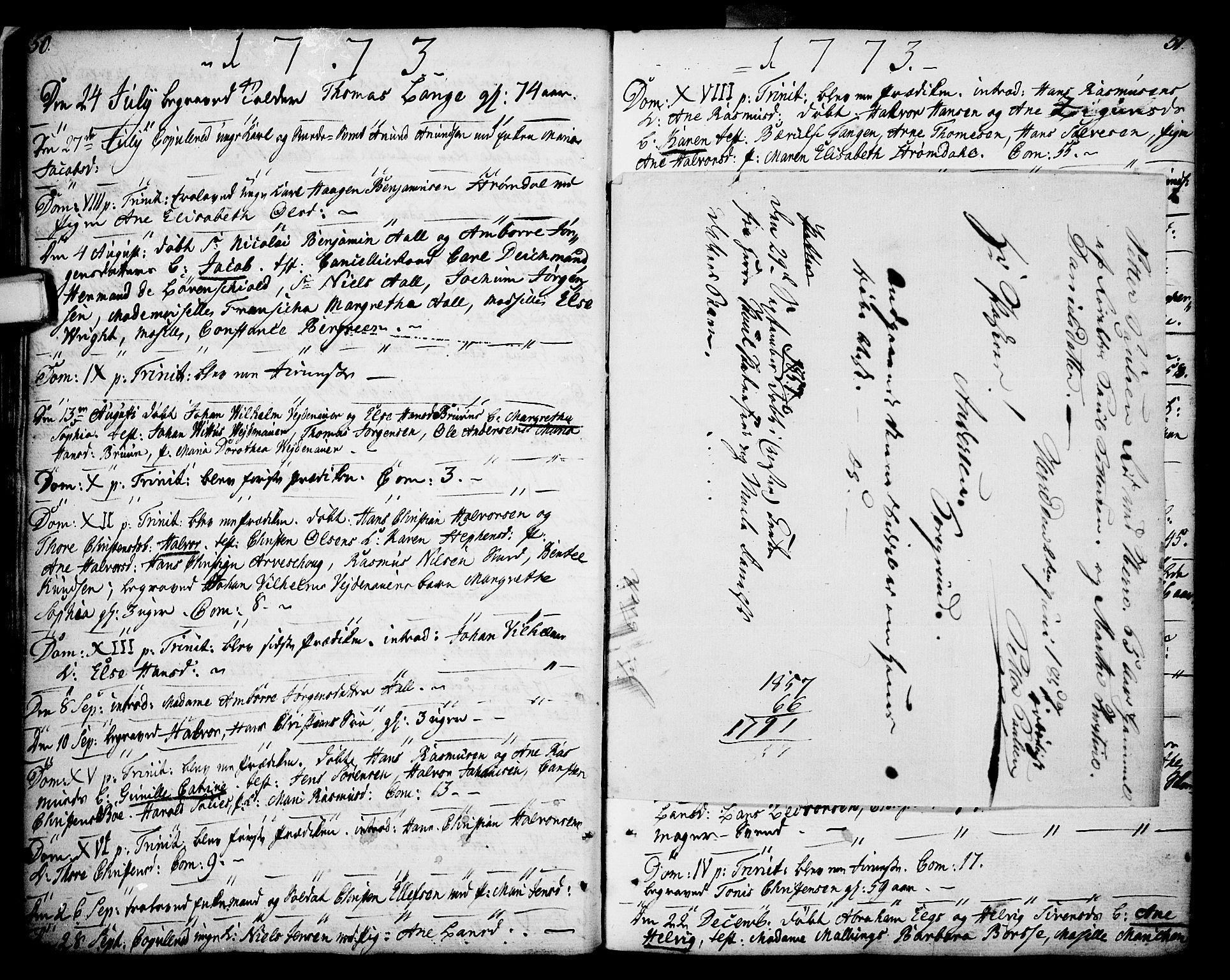 SAKO, Porsgrunn kirkebøker , F/Fa/L0002: Ministerialbok nr. 2, 1764-1814, s. 50-51