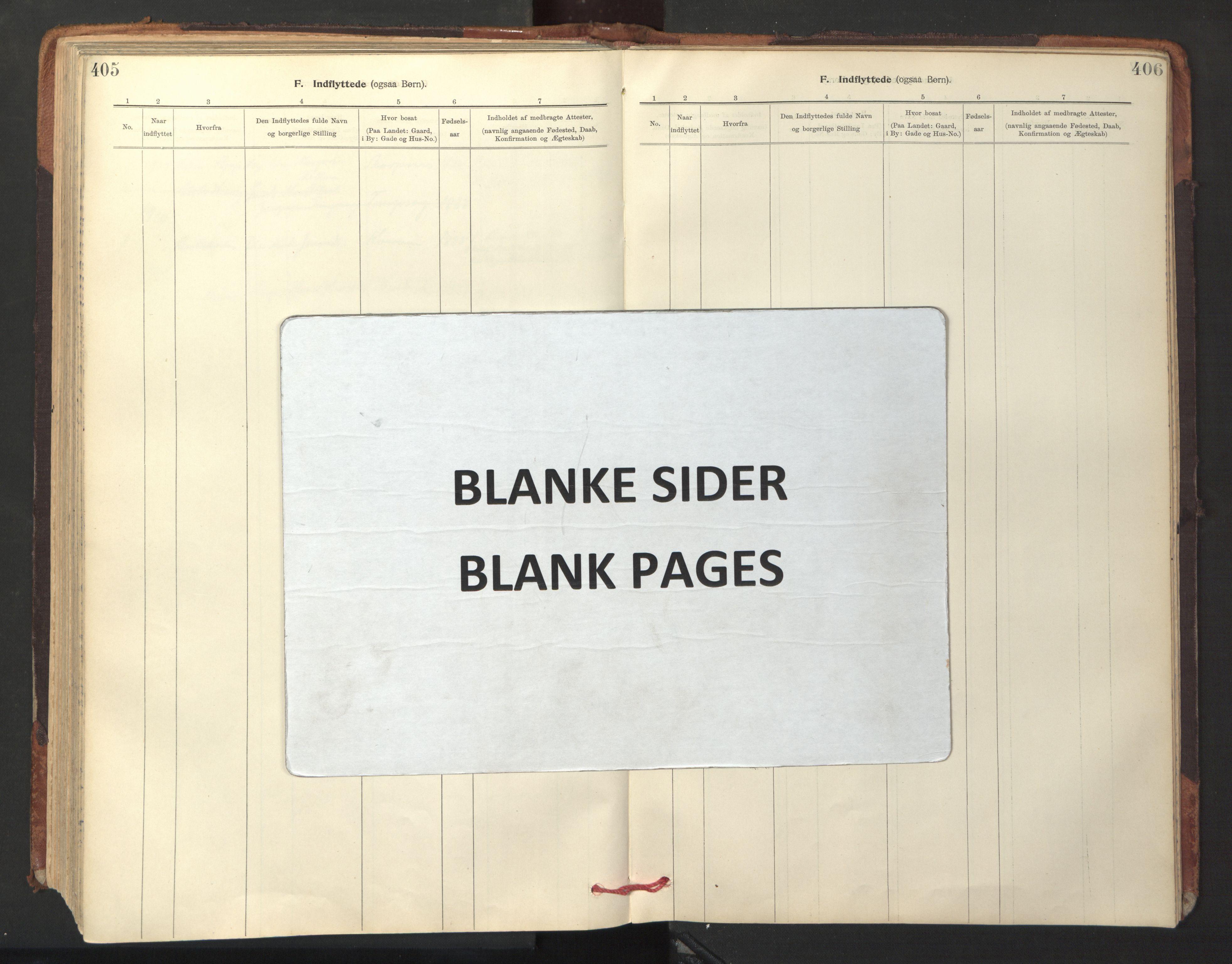SAT, Ministerialprotokoller, klokkerbøker og fødselsregistre - Sør-Trøndelag, 641/L0596: Ministerialbok nr. 641A02, 1898-1915, s. 405-406