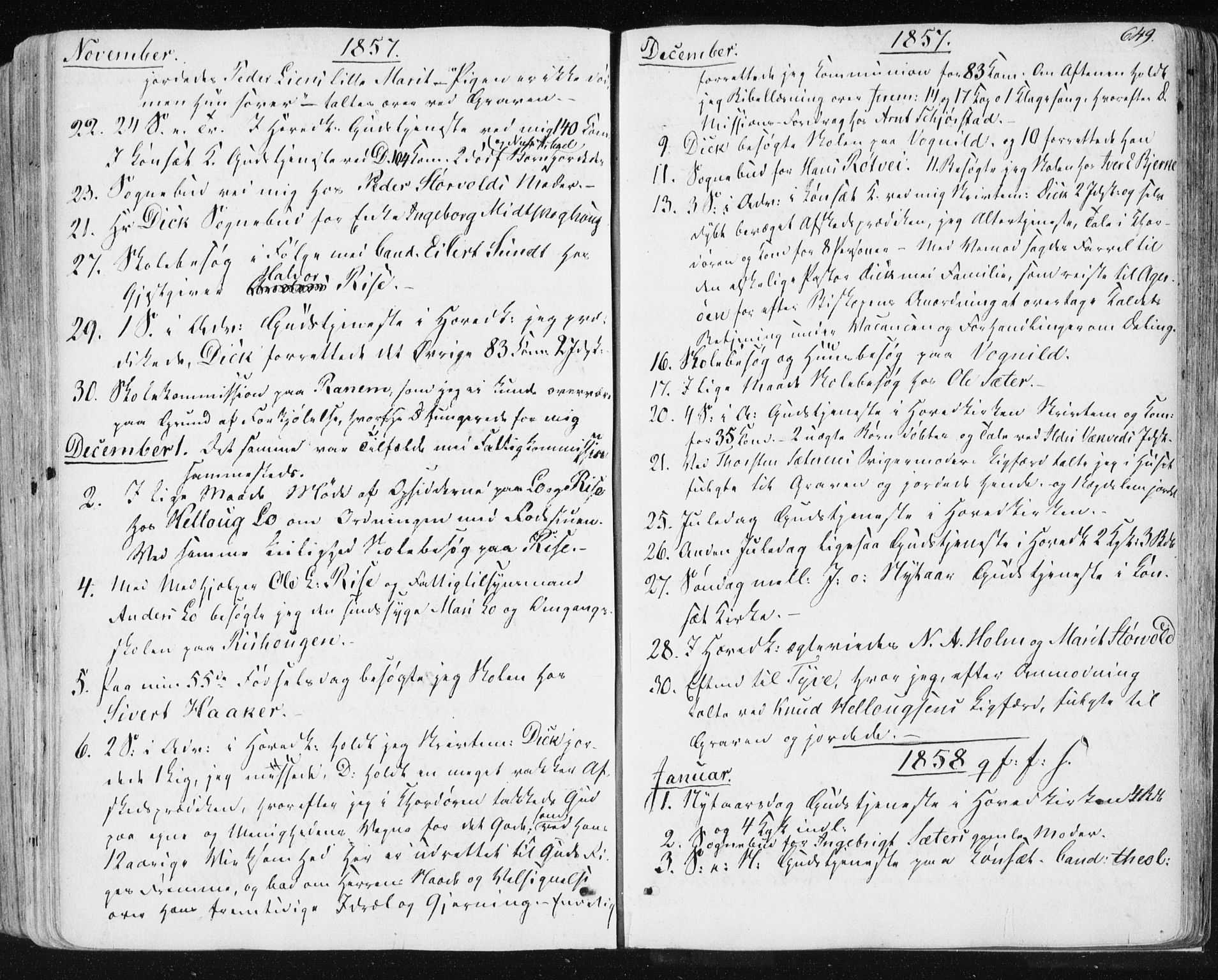 SAT, Ministerialprotokoller, klokkerbøker og fødselsregistre - Sør-Trøndelag, 678/L0899: Ministerialbok nr. 678A08, 1848-1872, s. 649