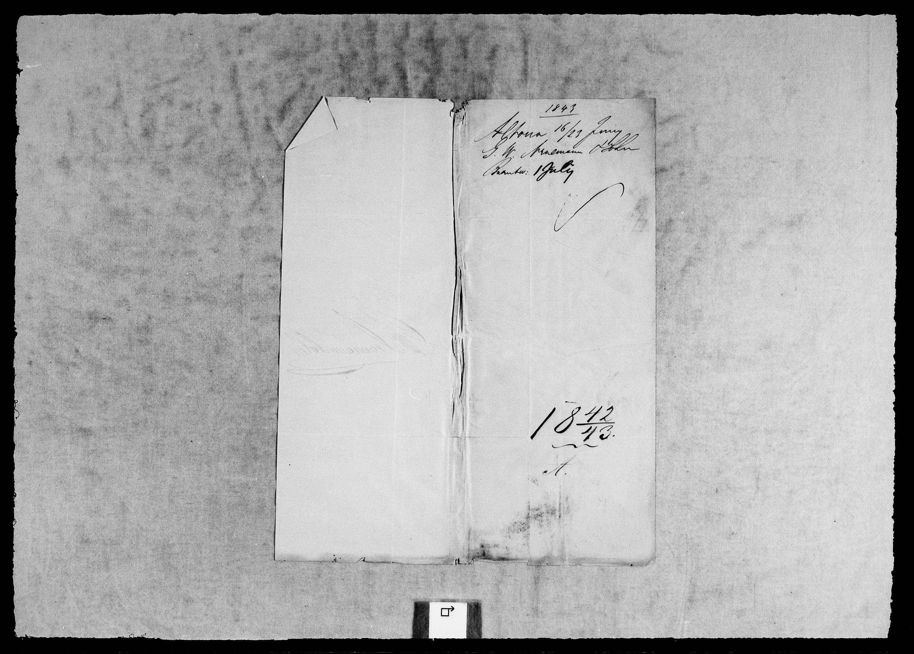 RA, Modums Blaafarveværk, G/Gb/L0127, 1842-1843, s. 2