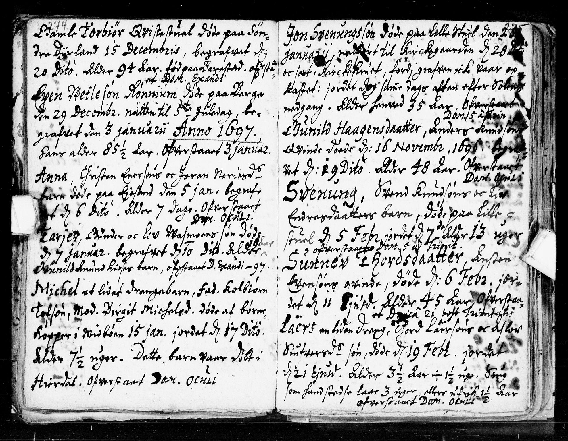 SAKO, Seljord kirkebøker, F/Fa/L0002: Ministerialbok nr. I 2, 1689-1713, s. 274-275