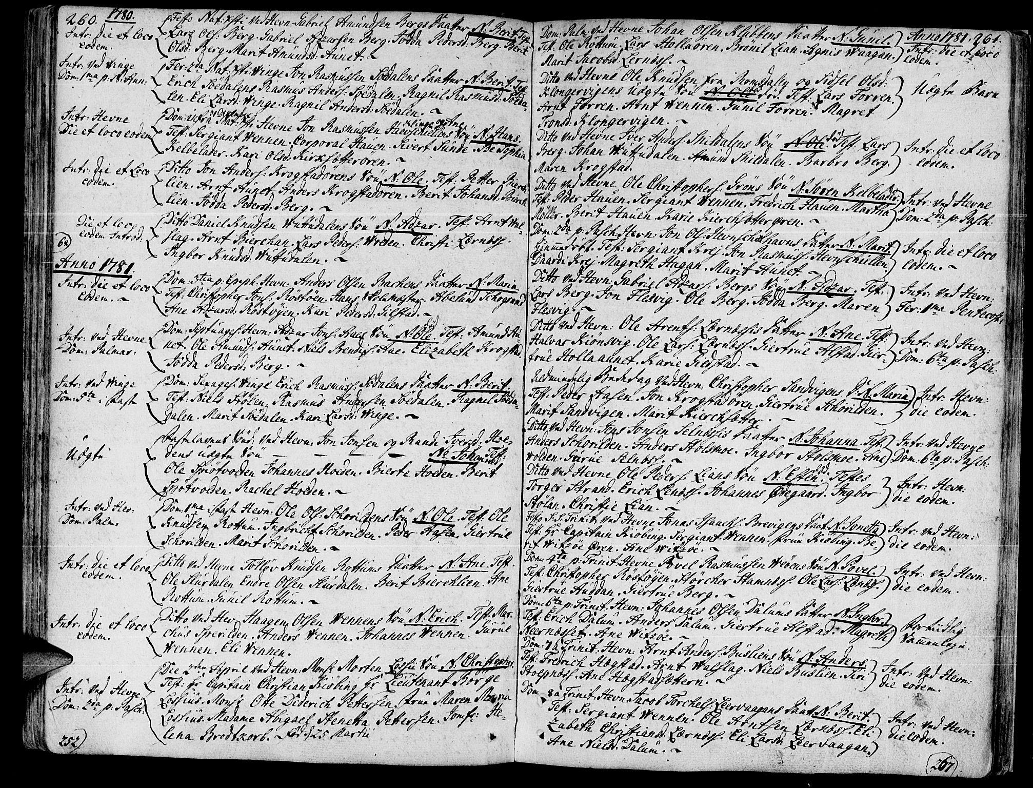 SAT, Ministerialprotokoller, klokkerbøker og fødselsregistre - Sør-Trøndelag, 630/L0489: Ministerialbok nr. 630A02, 1757-1794, s. 260-261