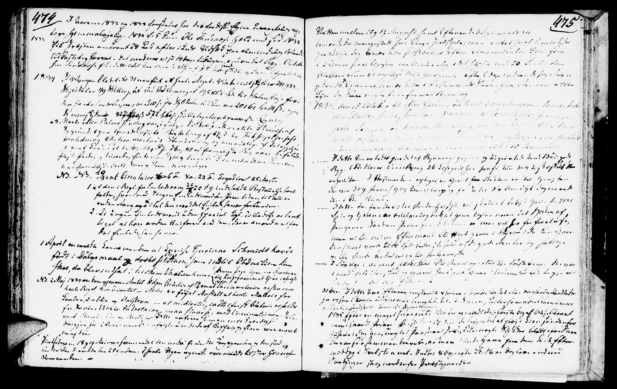 SAT, Ministerialprotokoller, klokkerbøker og fødselsregistre - Nord-Trøndelag, 749/L0468: Ministerialbok nr. 749A02, 1787-1817, s. 474-475
