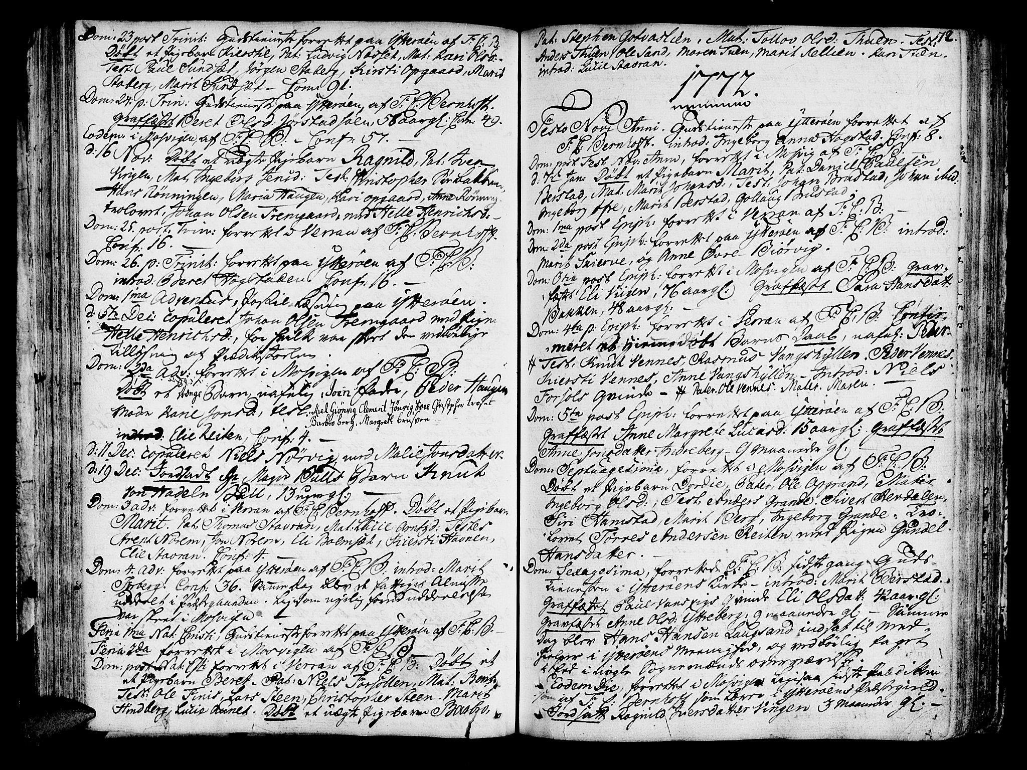 SAT, Ministerialprotokoller, klokkerbøker og fødselsregistre - Nord-Trøndelag, 722/L0216: Ministerialbok nr. 722A03, 1756-1816, s. 72