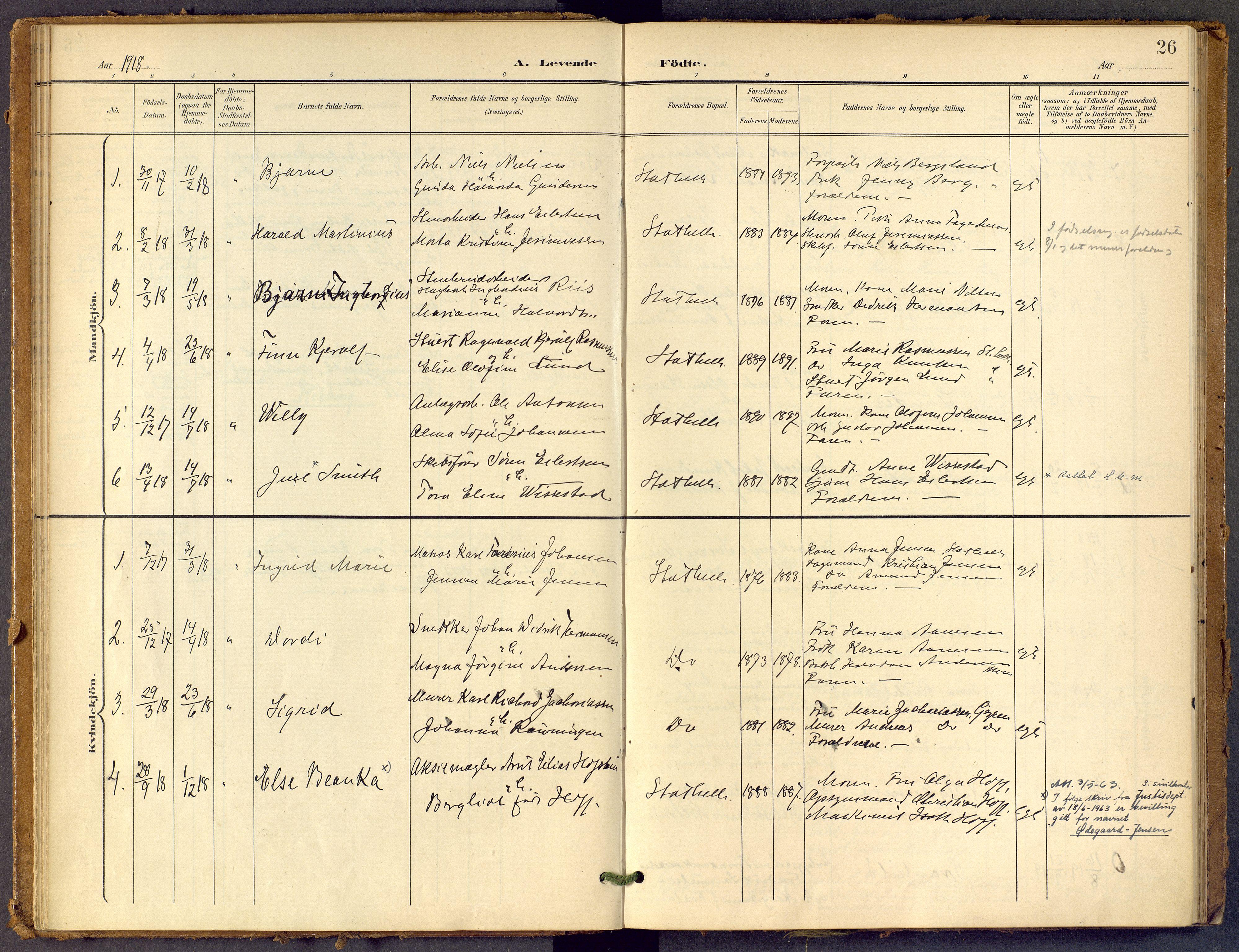 SAKO, Bamble kirkebøker, F/Fb/L0002: Ministerialbok nr. II 2, 1900-1921, s. 26