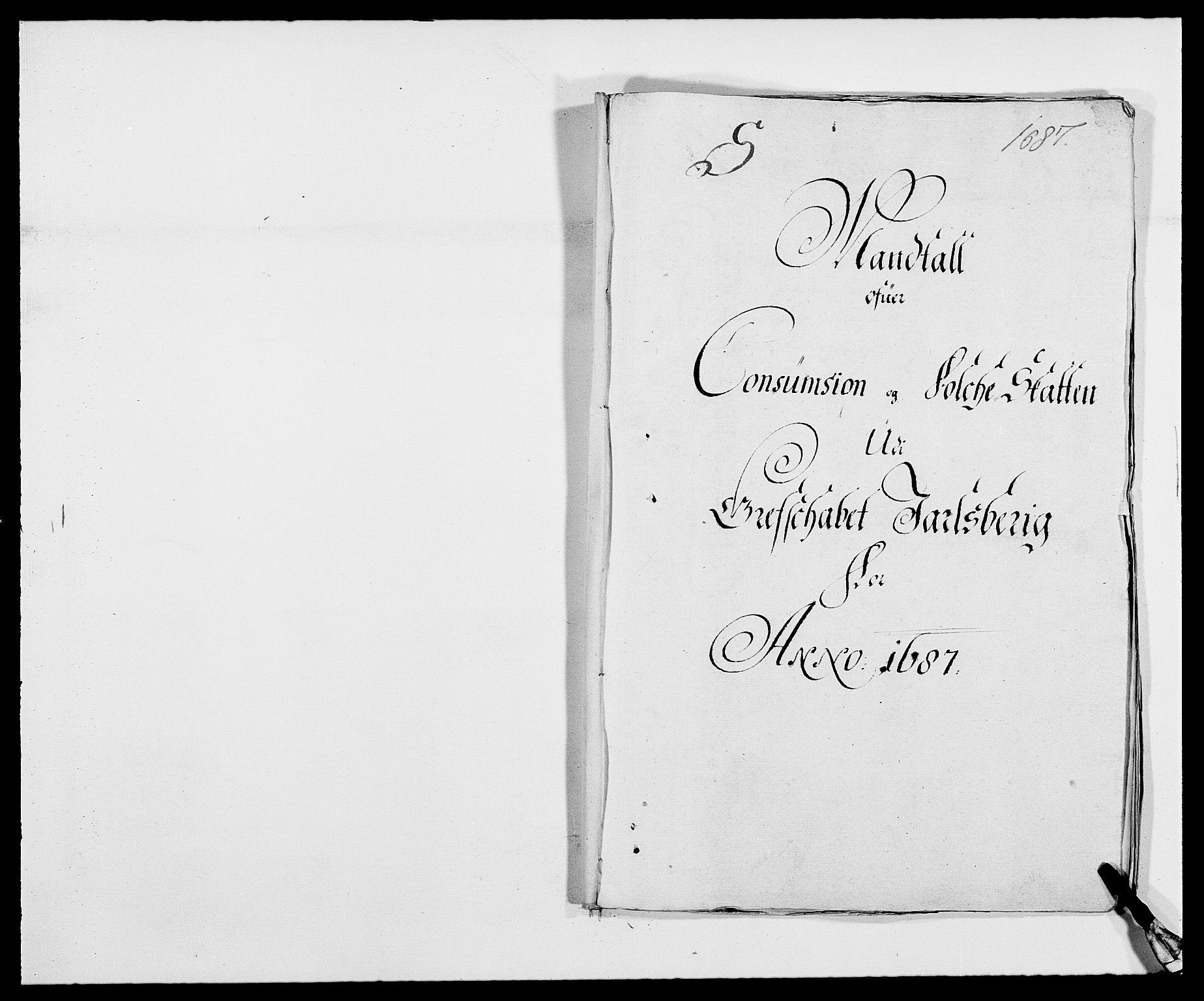 RA, Rentekammeret inntil 1814, Reviderte regnskaper, Fogderegnskap, R32/L1858: Fogderegnskap Jarlsberg grevskap, 1686-1690, s. 309