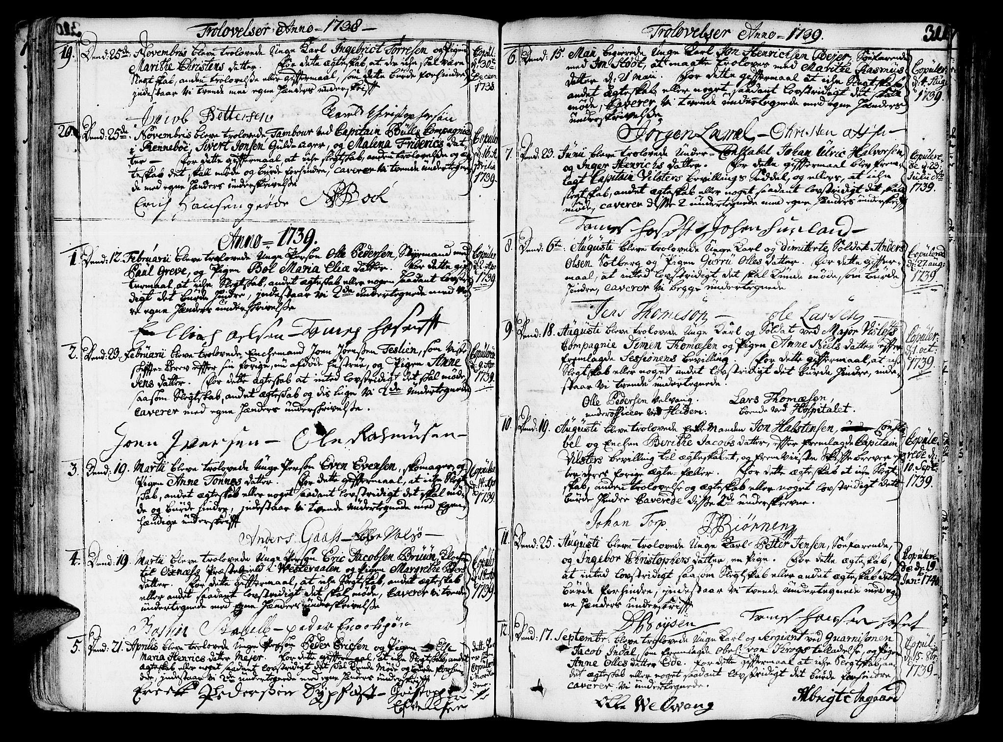 SAT, Ministerialprotokoller, klokkerbøker og fødselsregistre - Sør-Trøndelag, 602/L0103: Ministerialbok nr. 602A01, 1732-1774, s. 311