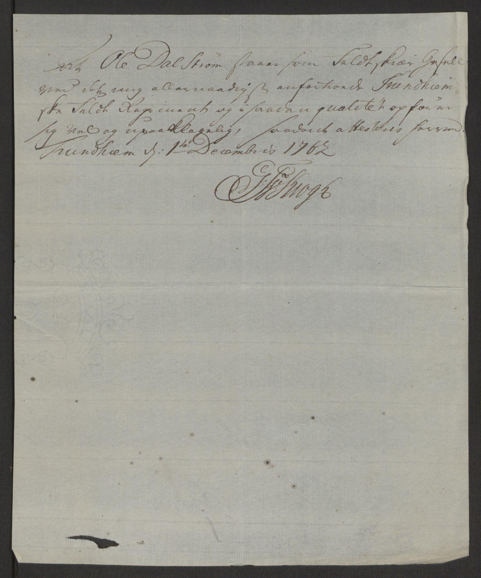 RA, Rentekammeret inntil 1814, Reviderte regnskaper, Byregnskaper, R/Rs/L0516: [S9] Kontribusjonsregnskap, 1762-1767, s. 102