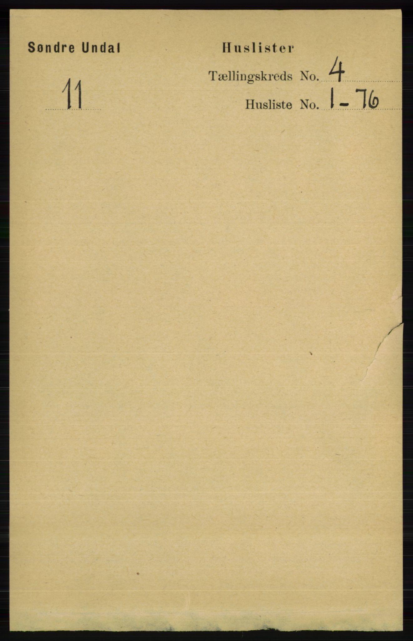RA, Folketelling 1891 for 1029 Sør-Audnedal herred, 1891, s. 1330