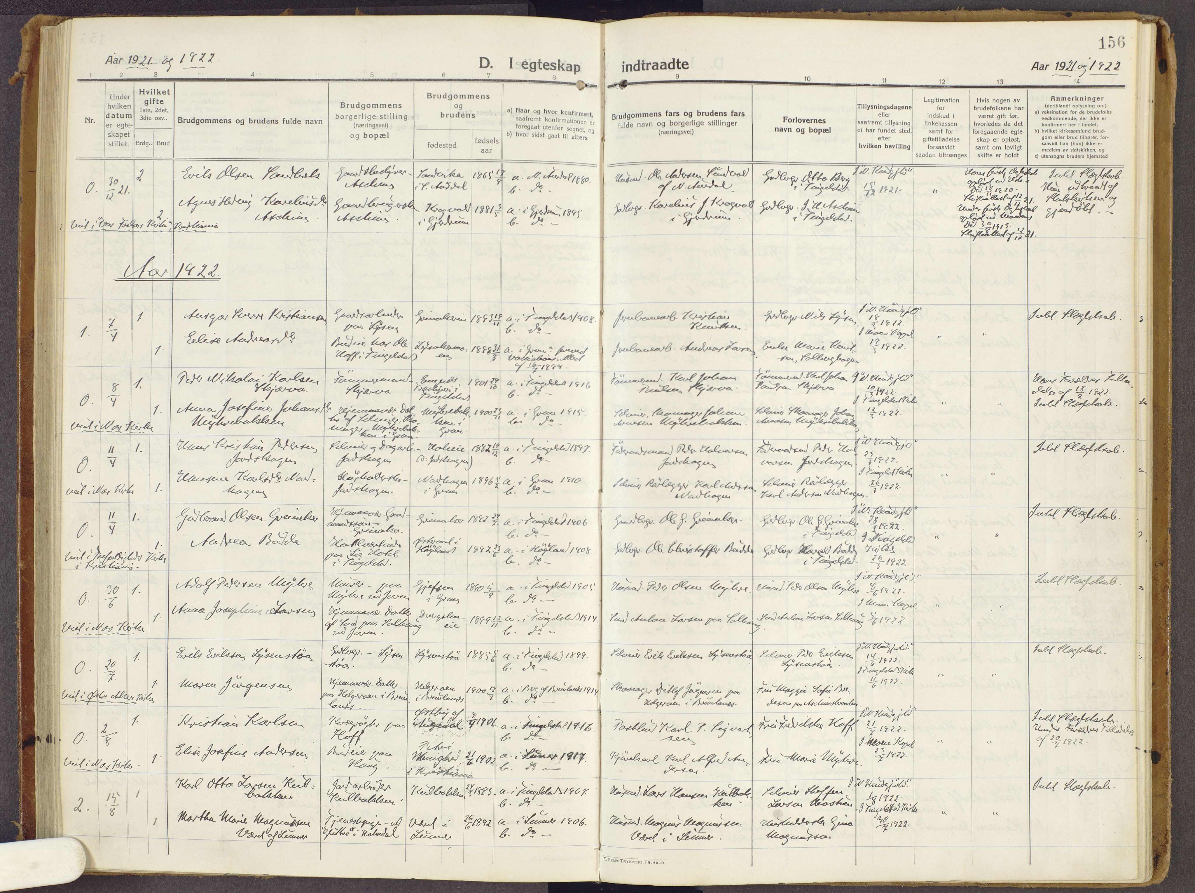 SAH, Brandbu prestekontor, Ministerialbok nr. 3, 1914-1928, s. 156