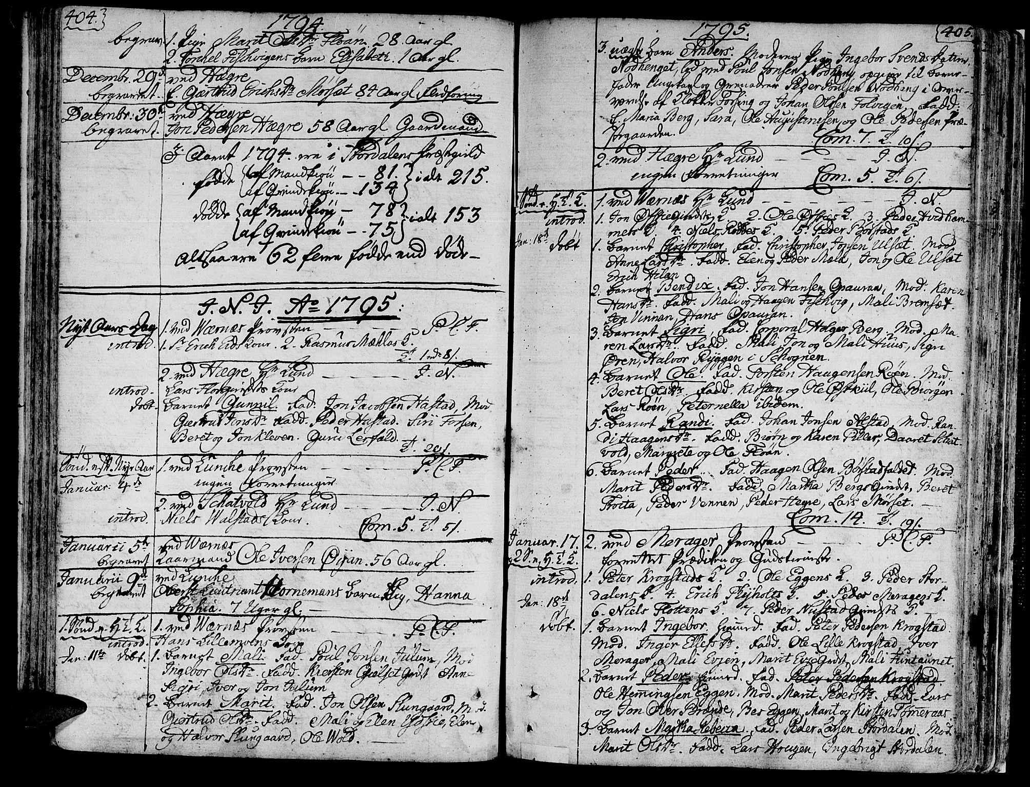 SAT, Ministerialprotokoller, klokkerbøker og fødselsregistre - Nord-Trøndelag, 709/L0059: Ministerialbok nr. 709A06, 1781-1797, s. 404-405