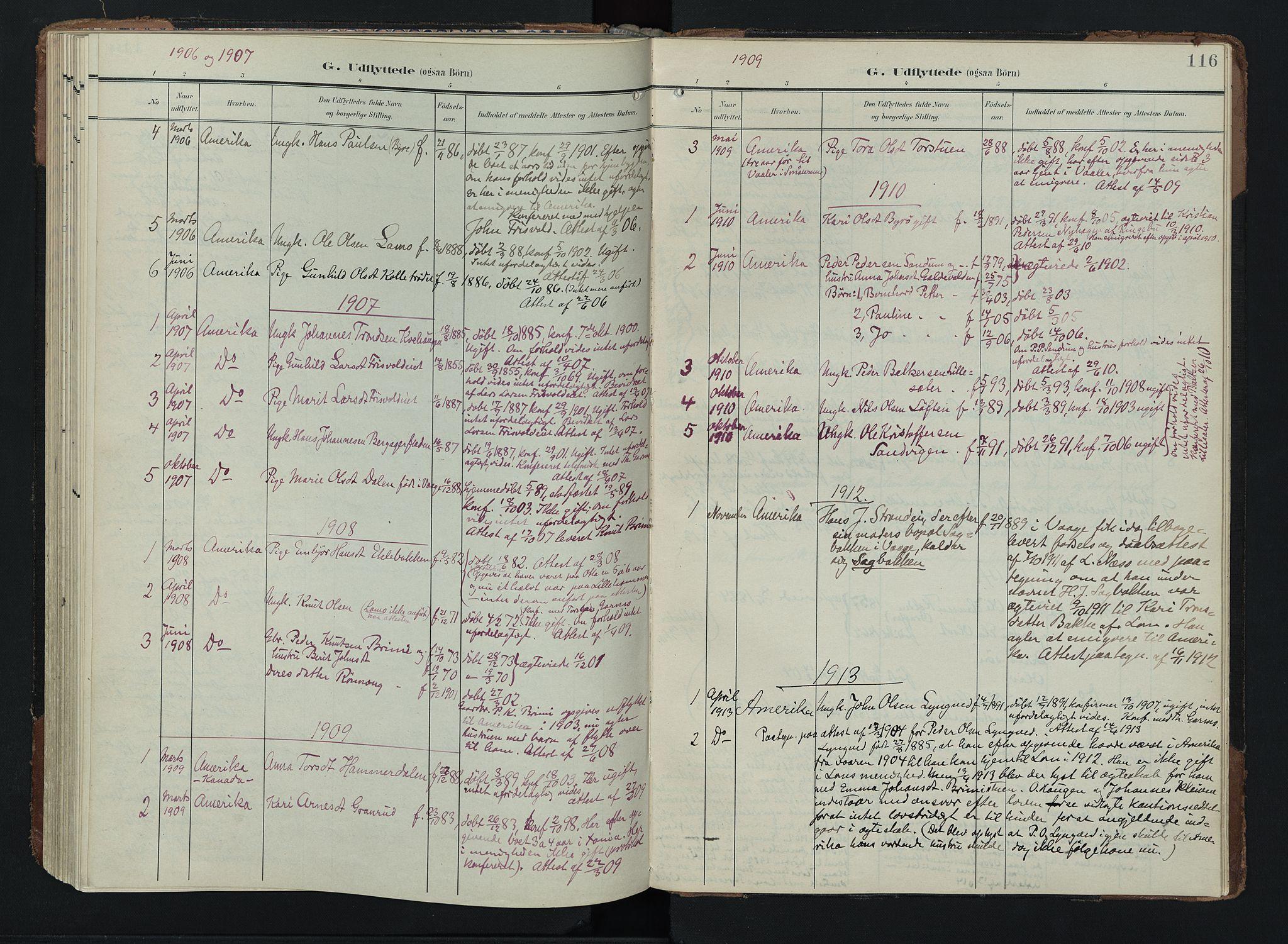 SAH, Lom prestekontor, K/L0011: Ministerialbok nr. 11, 1904-1928, s. 116