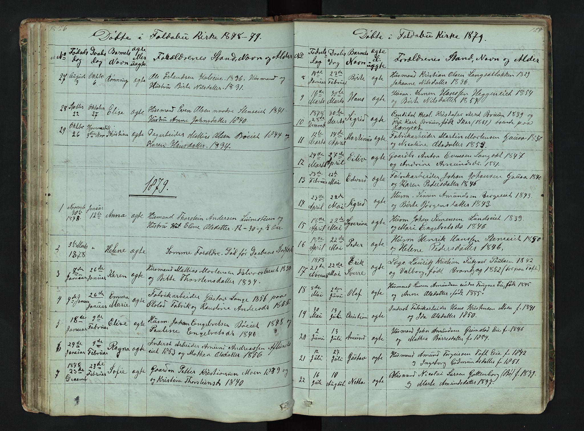 SAH, Gausdal prestekontor, Klokkerbok nr. 6, 1846-1893, s. 126-127