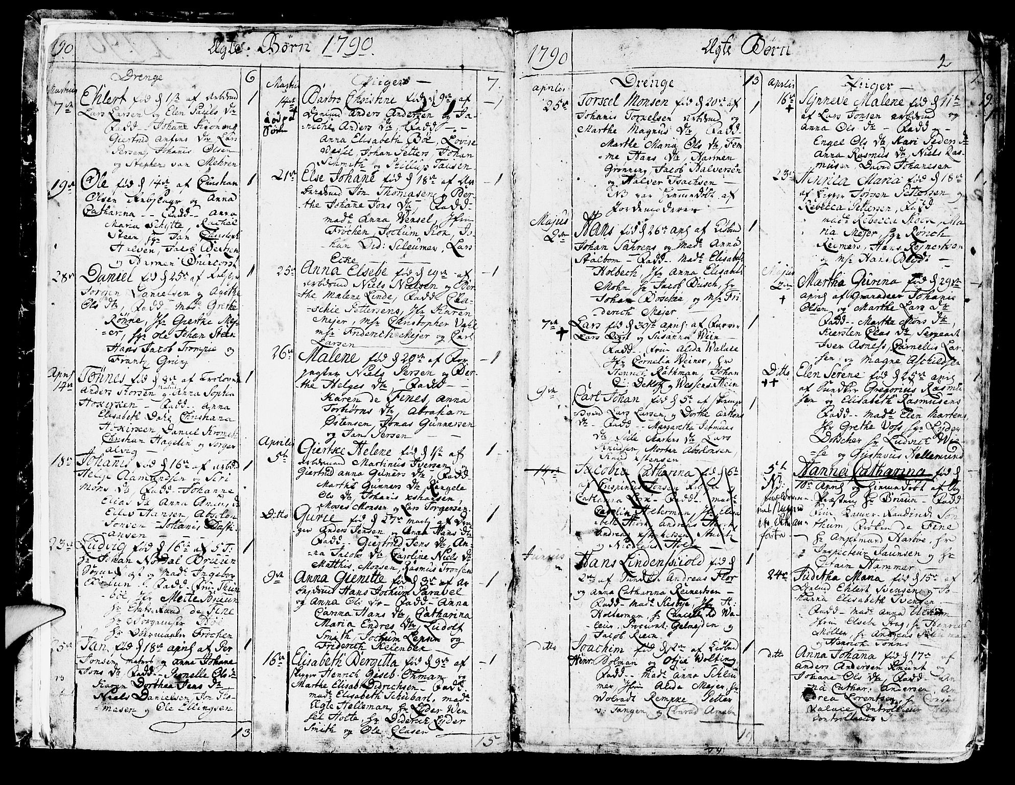 SAB, Korskirken Sokneprestembete, H/Haa/L0006: Ministerialbok nr. A 6, 1790-1820, s. 2