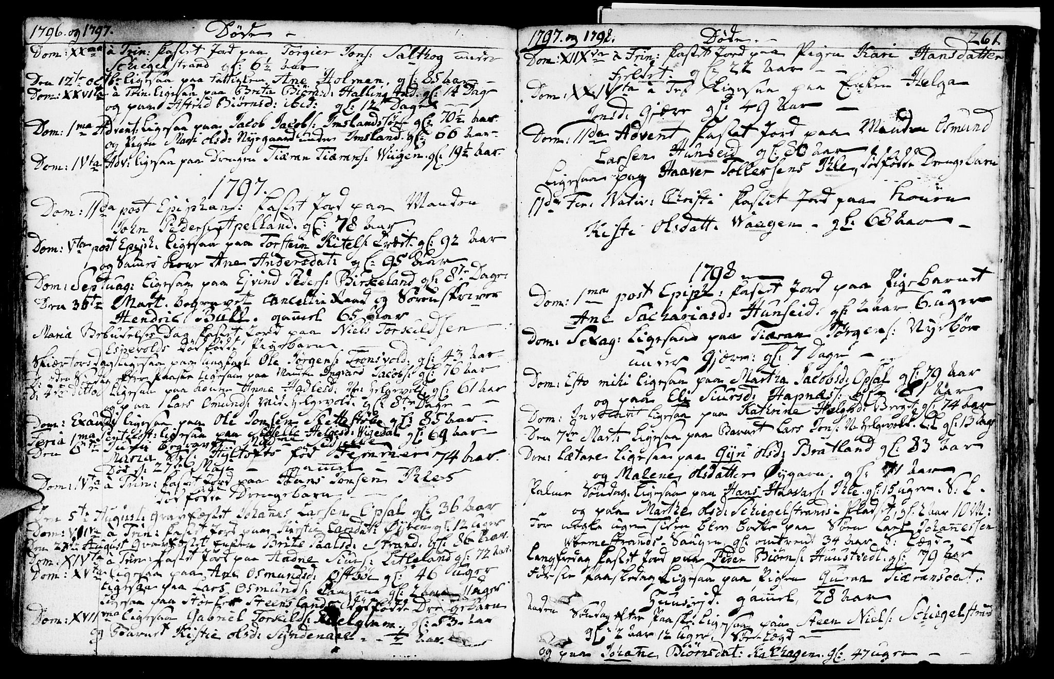 SAST, Vikedal sokneprestkontor, IV: Ministerialbok nr. A 2, 1779-1817, s. 261