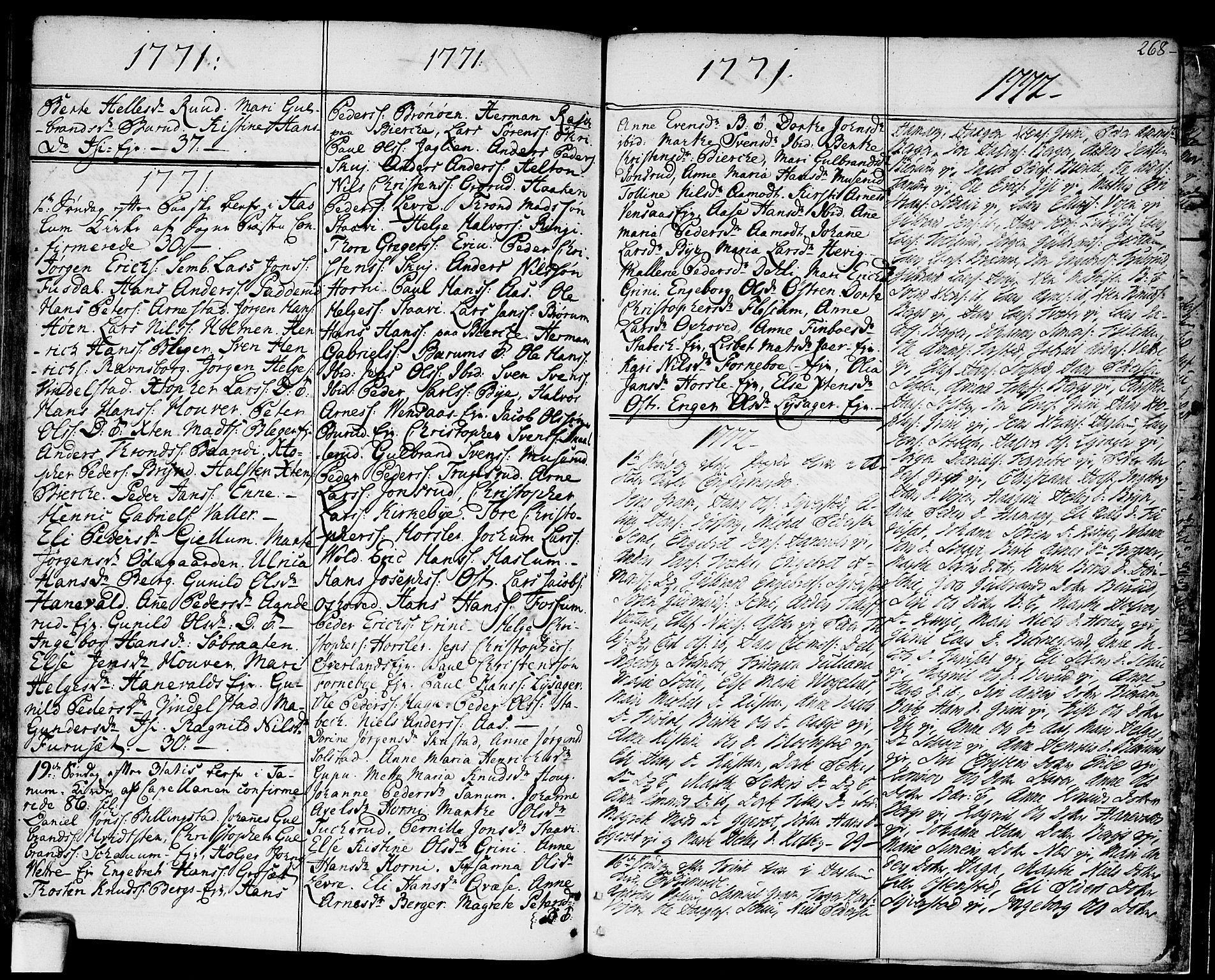 SAO, Asker prestekontor Kirkebøker, F/Fa/L0003: Ministerialbok nr. I 3, 1767-1807, s. 268