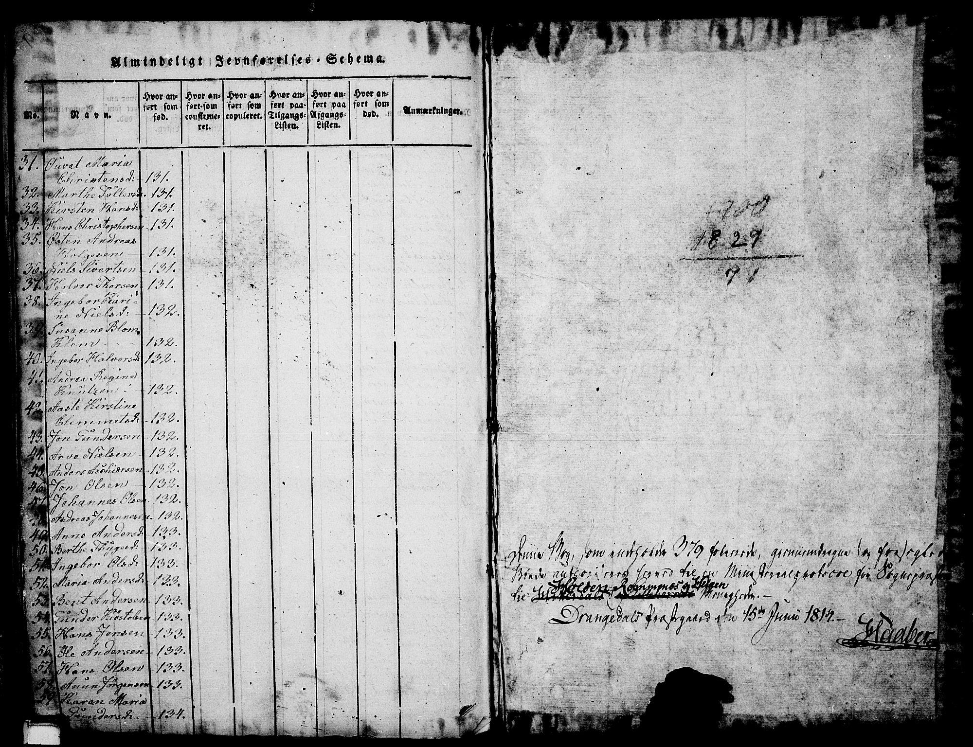 SAKO, Holla kirkebøker, G/Ga/L0001: Klokkerbok nr. I 1, 1814-1830, s. 380