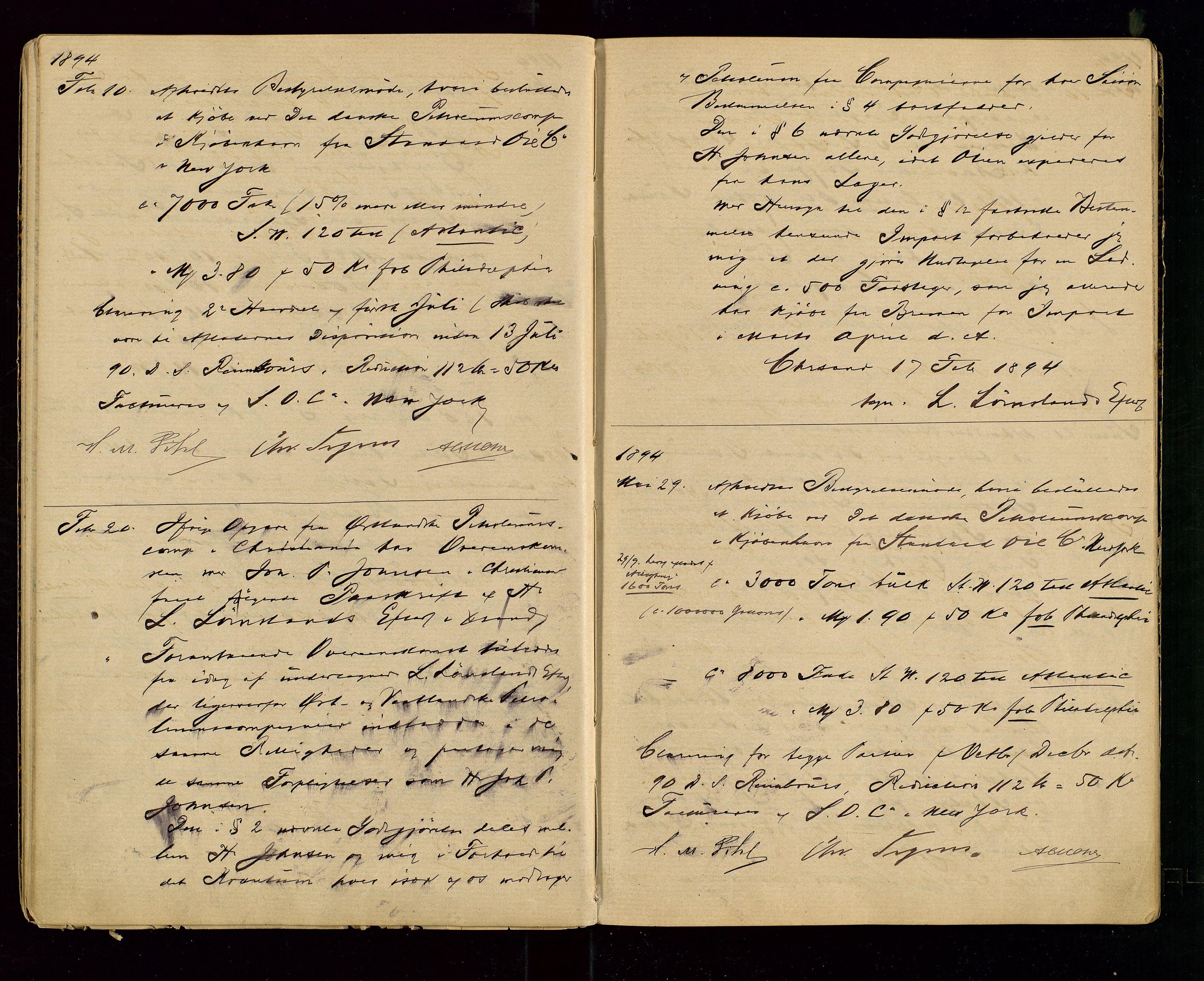 SAST, PA 1533 - A/S Vestlandske Petroleumscompani, A/Aa/L0001: Generalforsamlinger og styreprotokoller, 1890-1907, s. 18