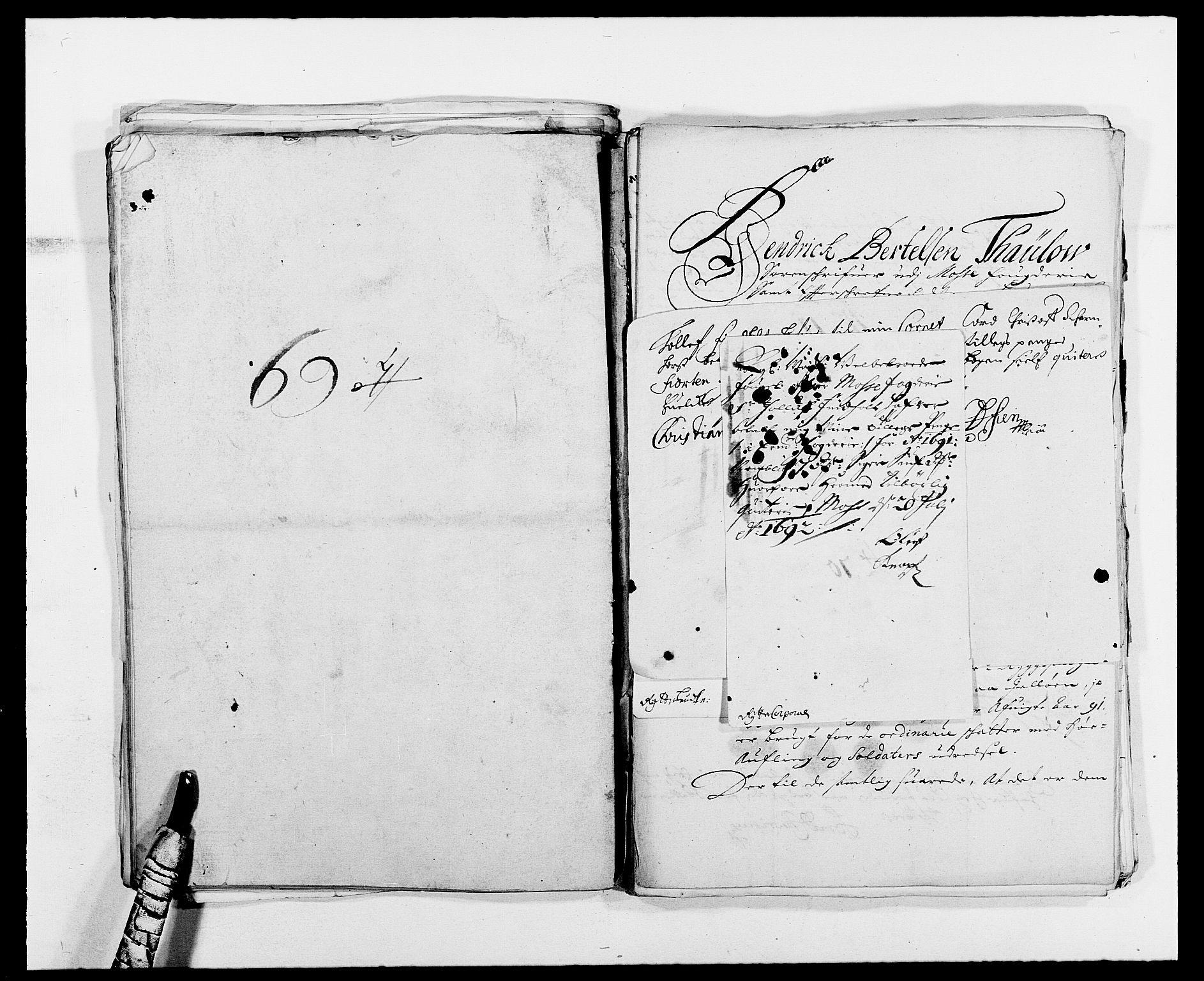 RA, Rentekammeret inntil 1814, Reviderte regnskaper, Fogderegnskap, R02/L0107: Fogderegnskap Moss og Verne kloster, 1685-1691, s. 345