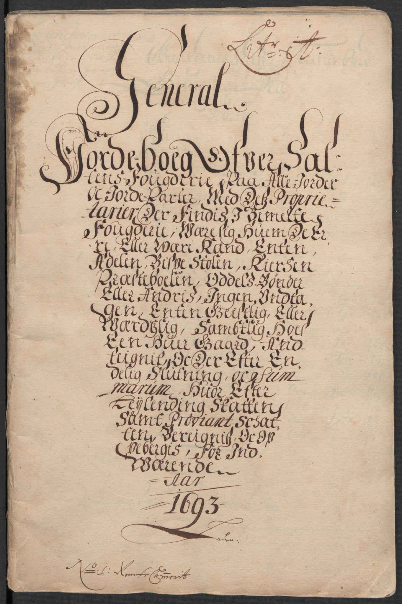RA, Rentekammeret inntil 1814, Reviderte regnskaper, Fogderegnskap, R66/L4577: Fogderegnskap Salten, 1691-1693, s. 262