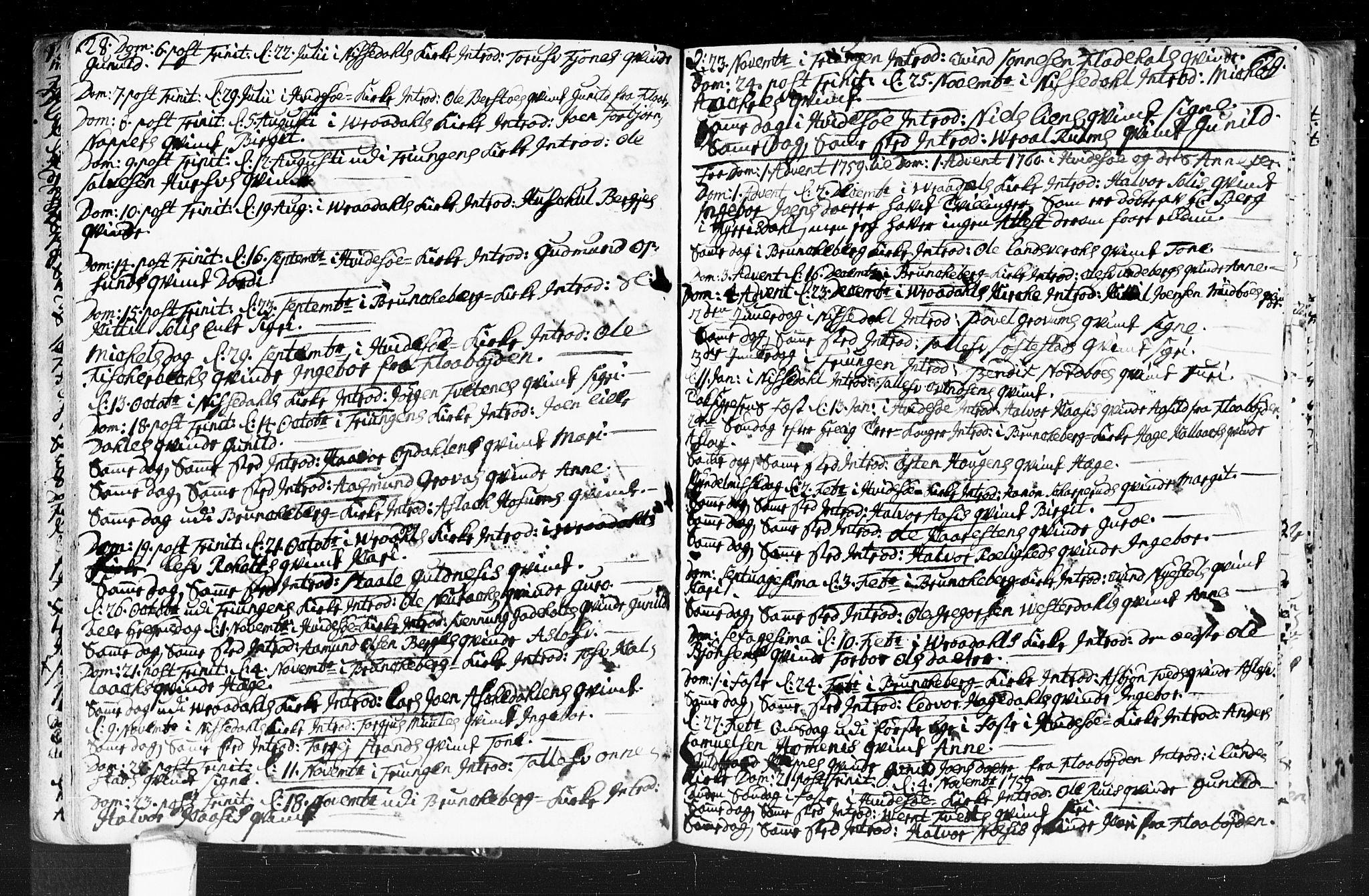 SAKO, Kviteseid kirkebøker, F/Fa/L0001: Ministerialbok nr. I 1, 1754-1773, s. 28-29