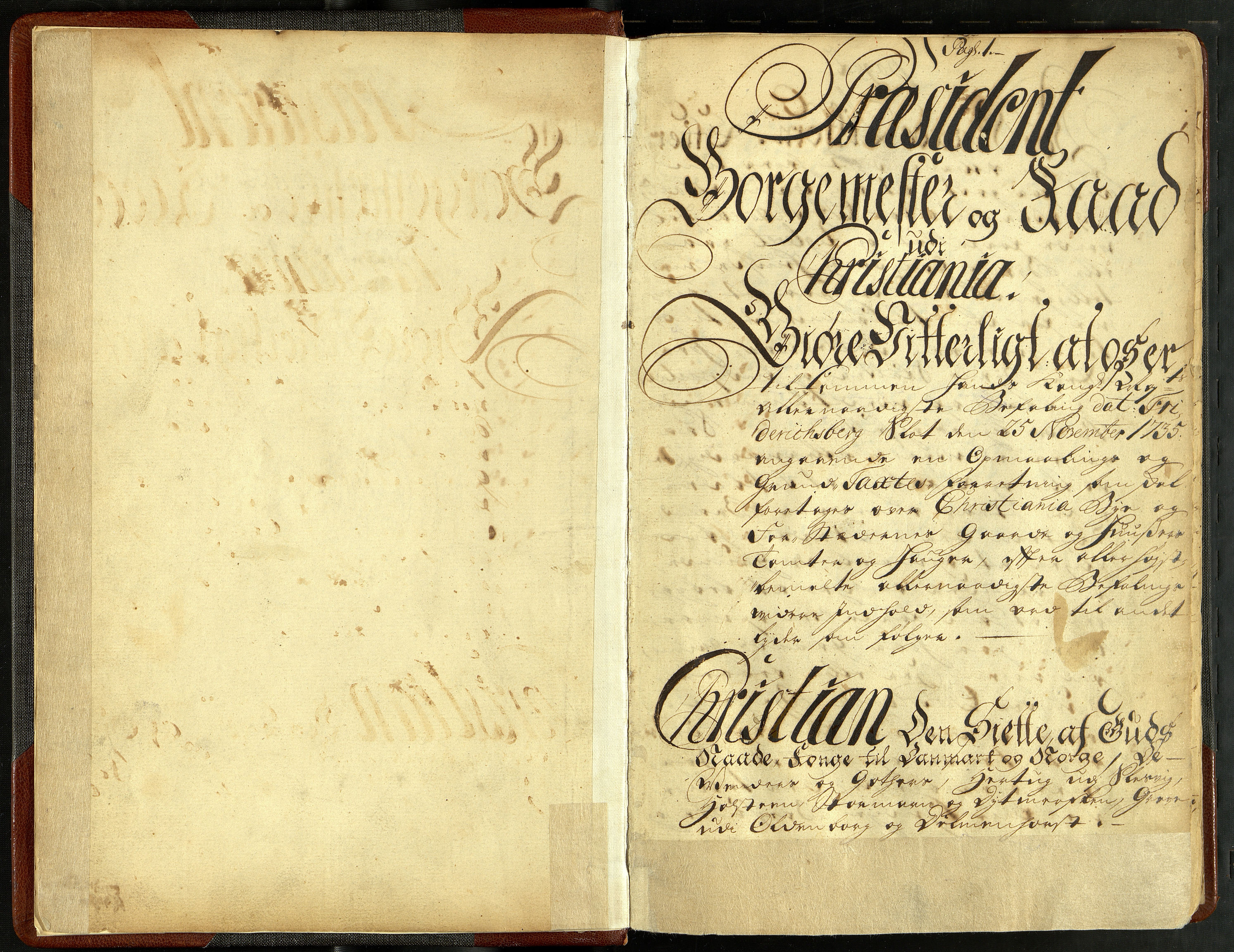 OBA, Oppmålingsvesenet, F/Fa/L0001: Oppmålingsforretning og matrikkel 1736, 1736
