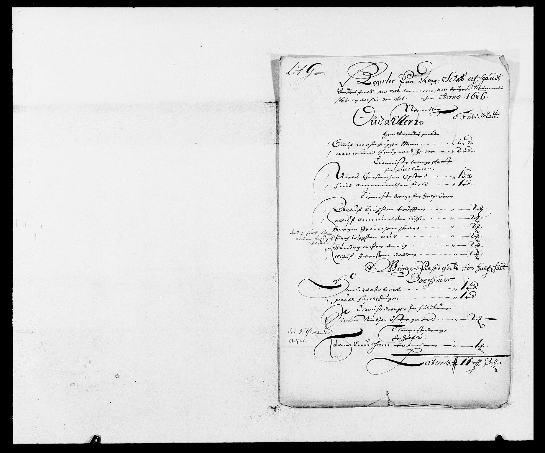 RA, Rentekammeret inntil 1814, Reviderte regnskaper, Fogderegnskap, R13/L0823: Fogderegnskap Solør, Odal og Østerdal, 1686, s. 229