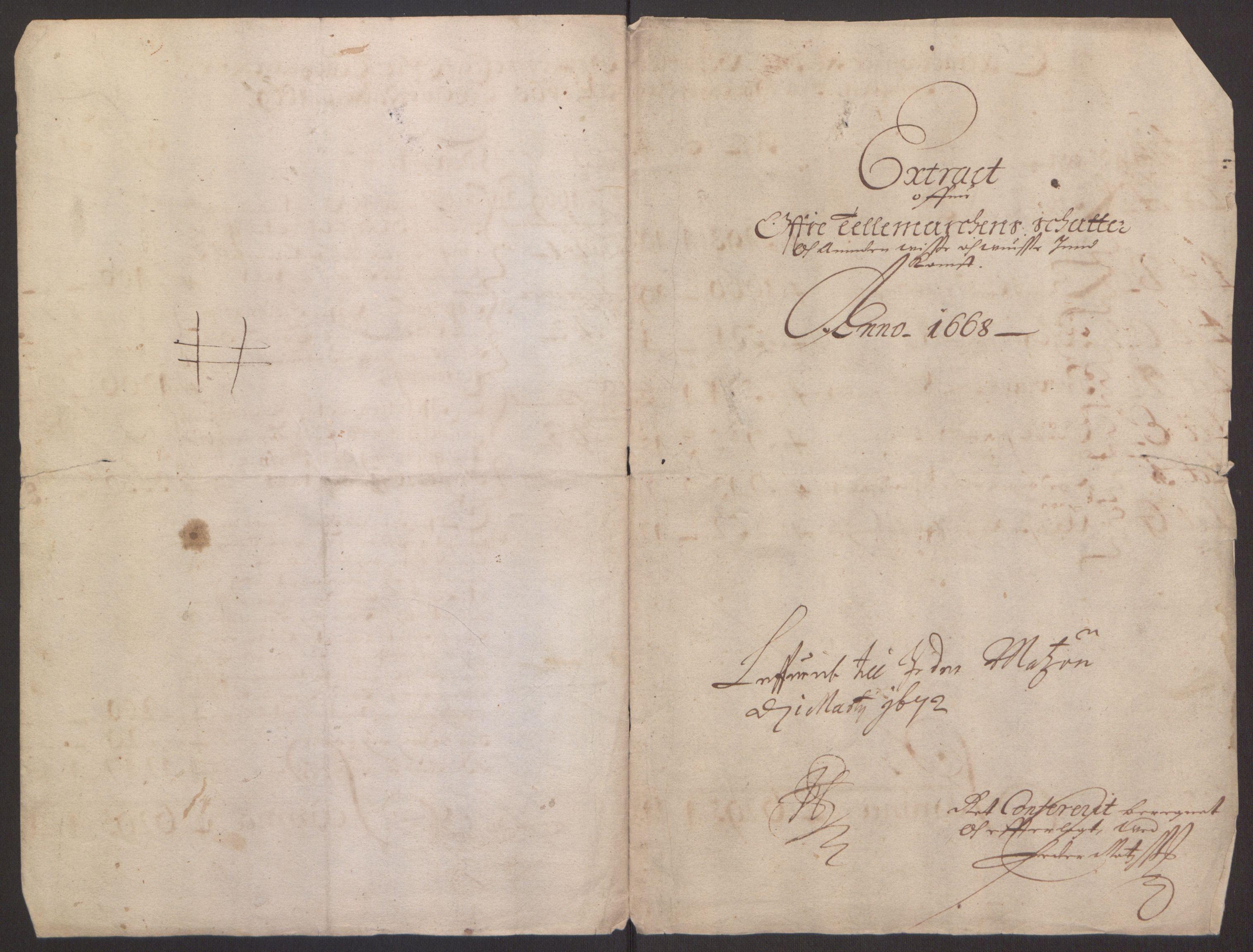 RA, Rentekammeret inntil 1814, Reviderte regnskaper, Fogderegnskap, R35/L2059: Fogderegnskap Øvre og Nedre Telemark, 1668-1670, s. 3