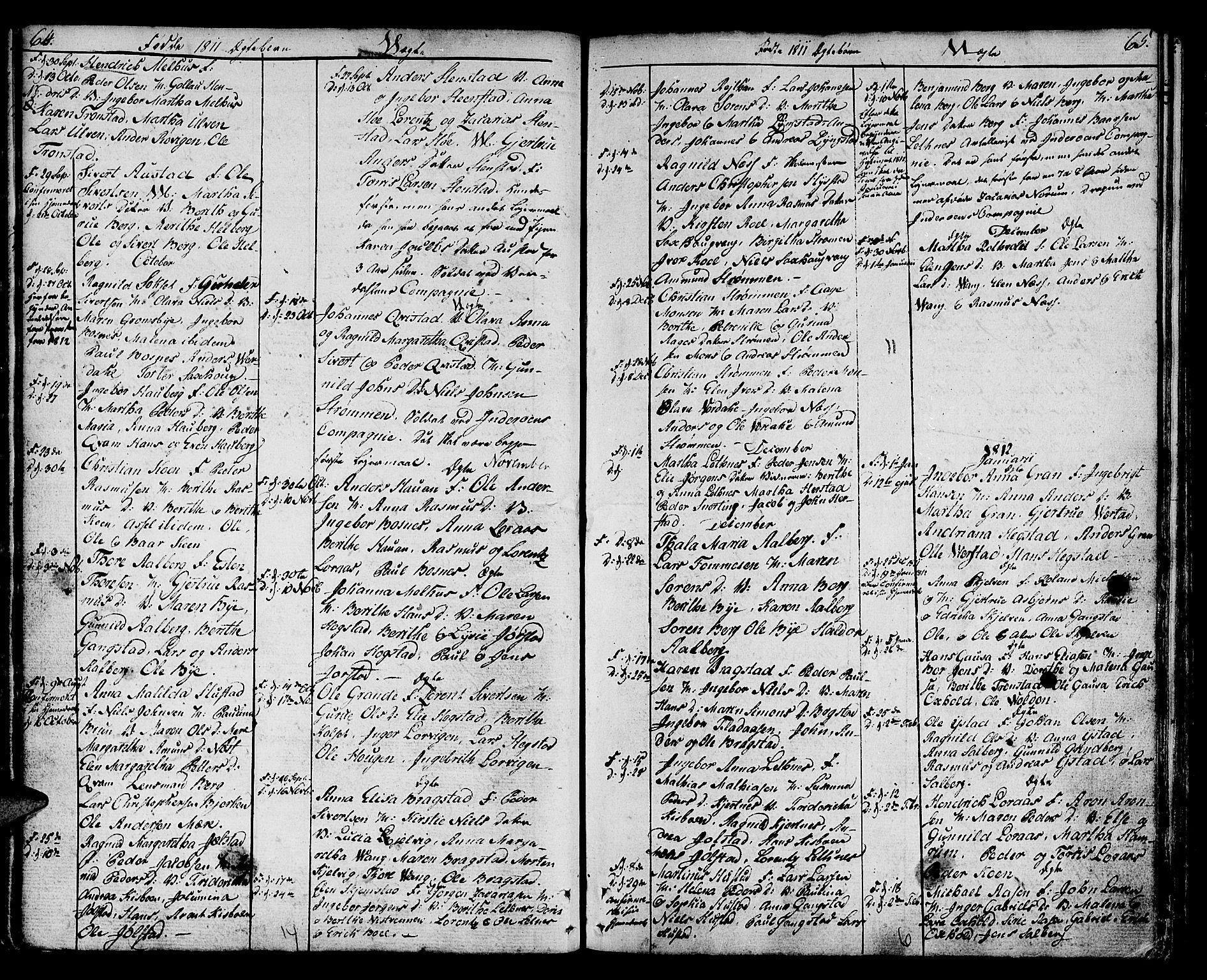 SAT, Ministerialprotokoller, klokkerbøker og fødselsregistre - Nord-Trøndelag, 730/L0274: Ministerialbok nr. 730A03, 1802-1816, s. 64-65