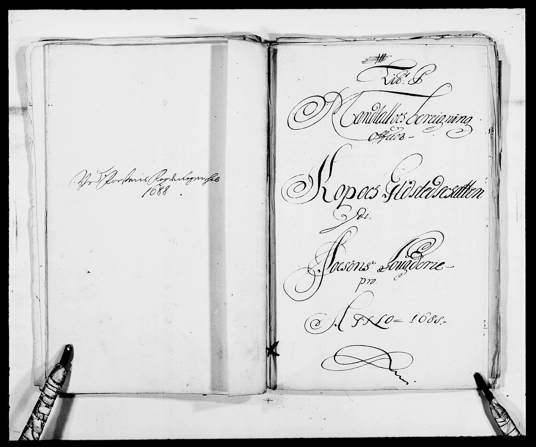 RA, Rentekammeret inntil 1814, Reviderte regnskaper, Fogderegnskap, R57/L3846: Fogderegnskap Fosen, 1688, s. 173