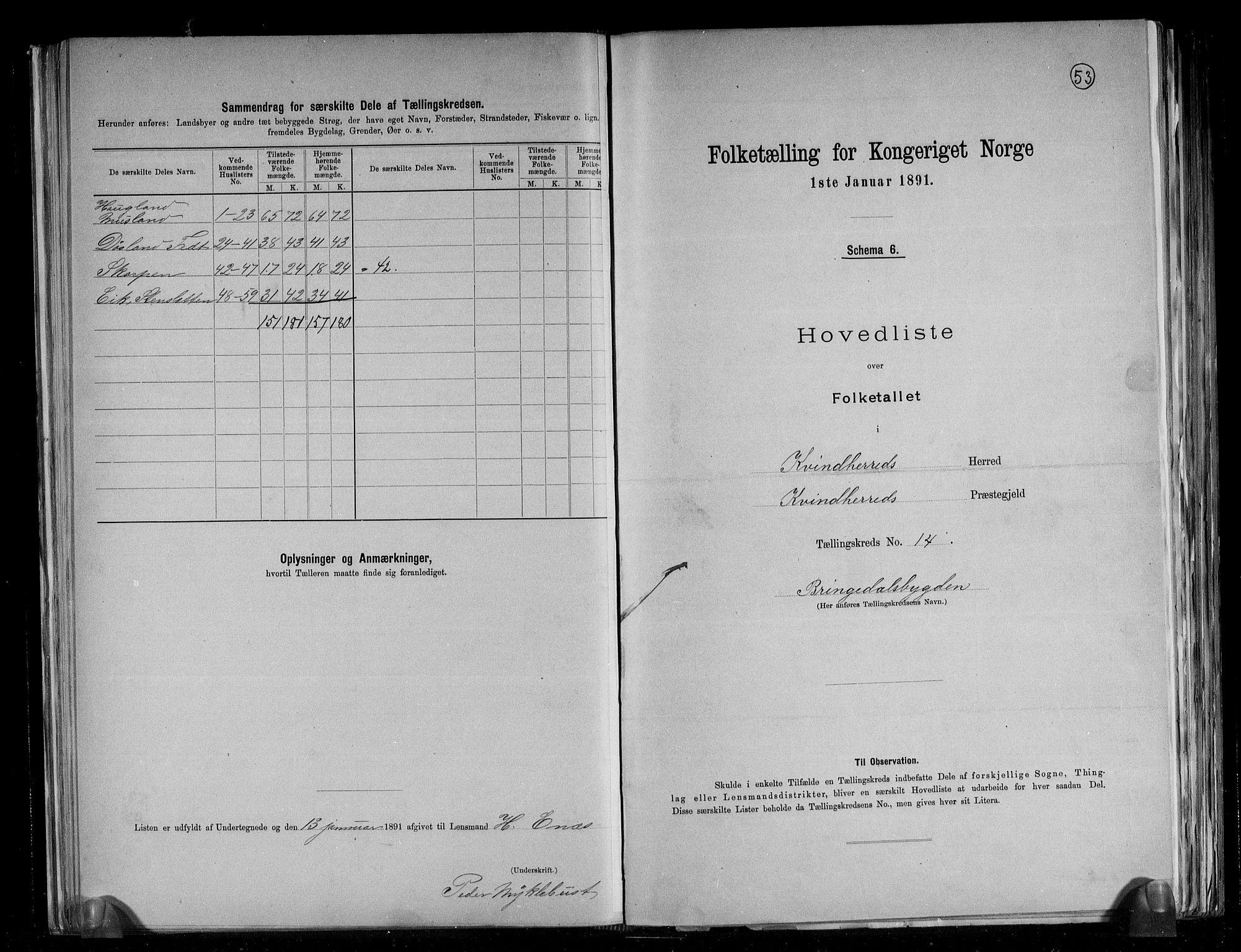 RA, Folketelling 1891 for 1224 Kvinnherad herred, 1891, s. 33
